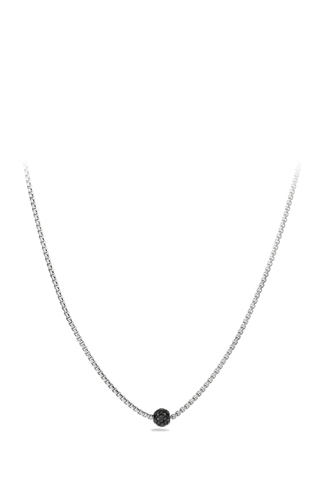 'Petite Pavé' Necklace with Diamonds,                             Main thumbnail 1, color,