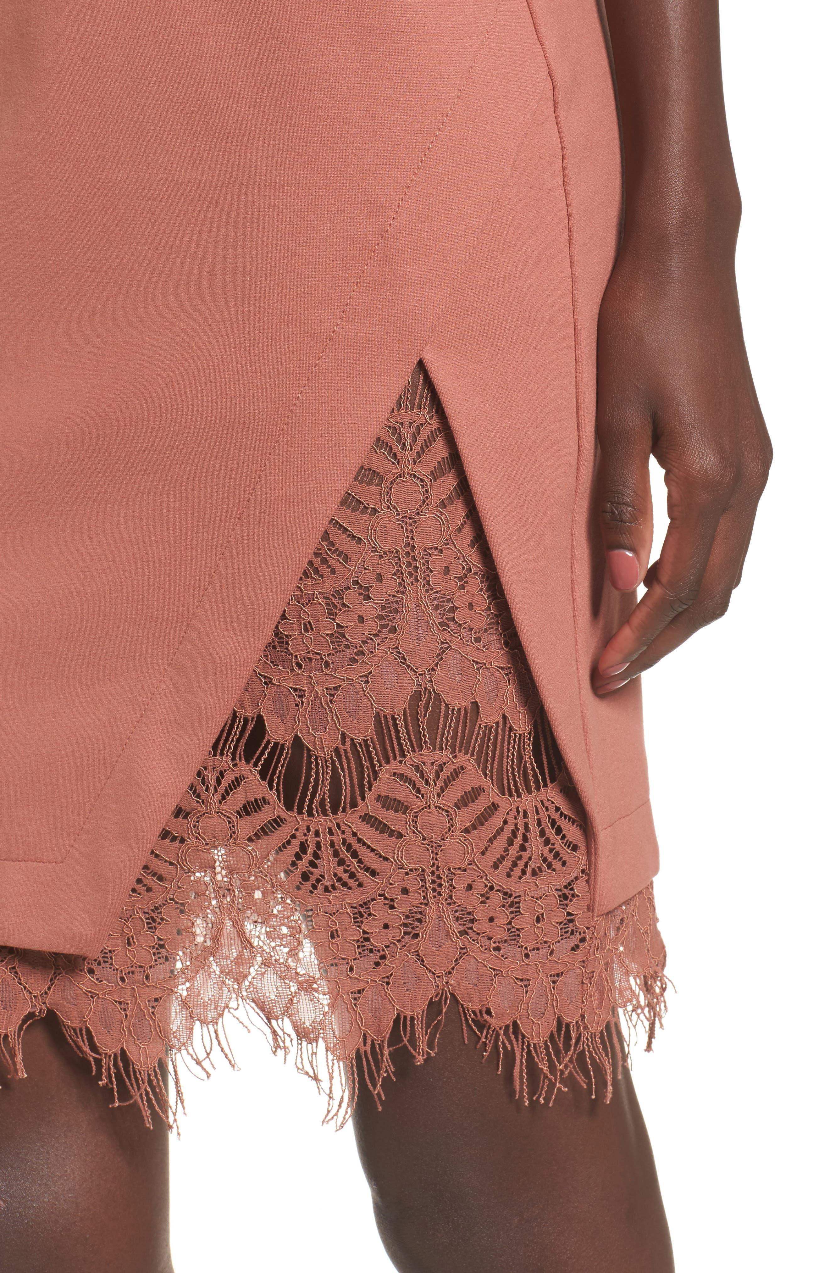 Lace Body-Con Dress,                             Alternate thumbnail 15, color,