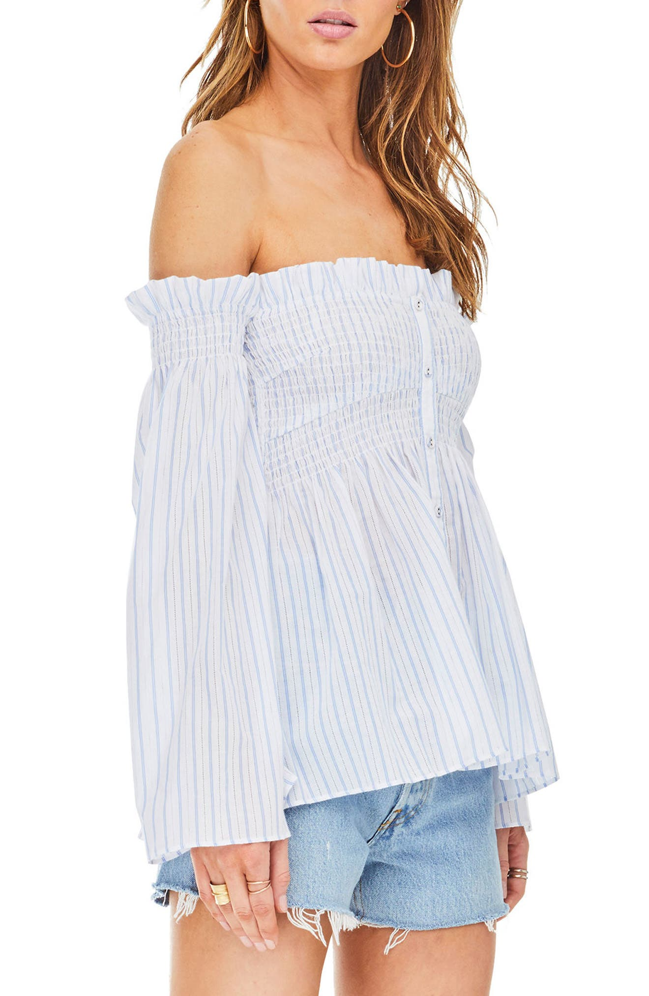 Shelby Off the Shoulder Top,                             Alternate thumbnail 7, color,