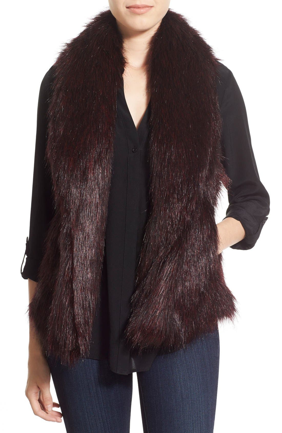 'Emily' Faux Fur Vest, Main, color, 505