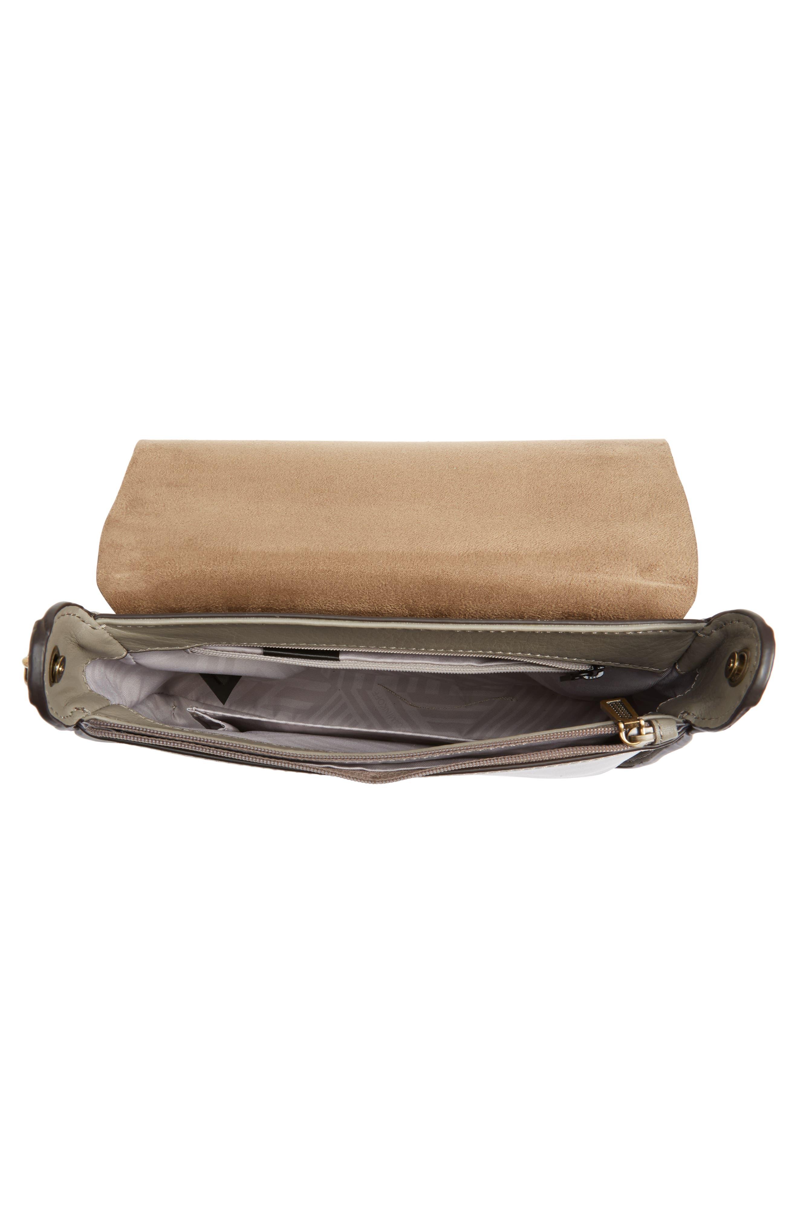 Ring Leather Shoulder Bag,                             Alternate thumbnail 8, color,