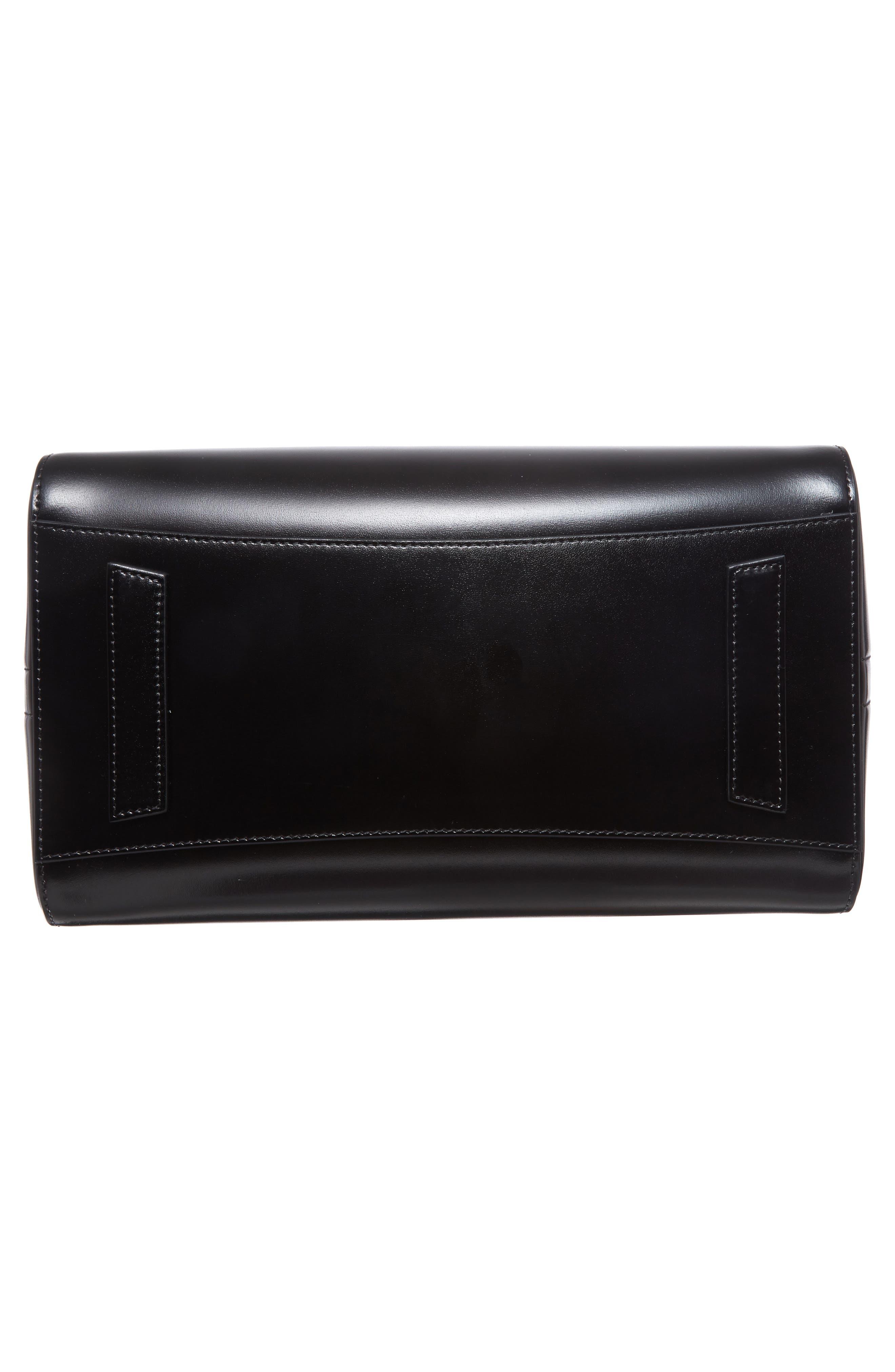 Medium Antigona Box Leather Satchel,                             Alternate thumbnail 6, color,                             001