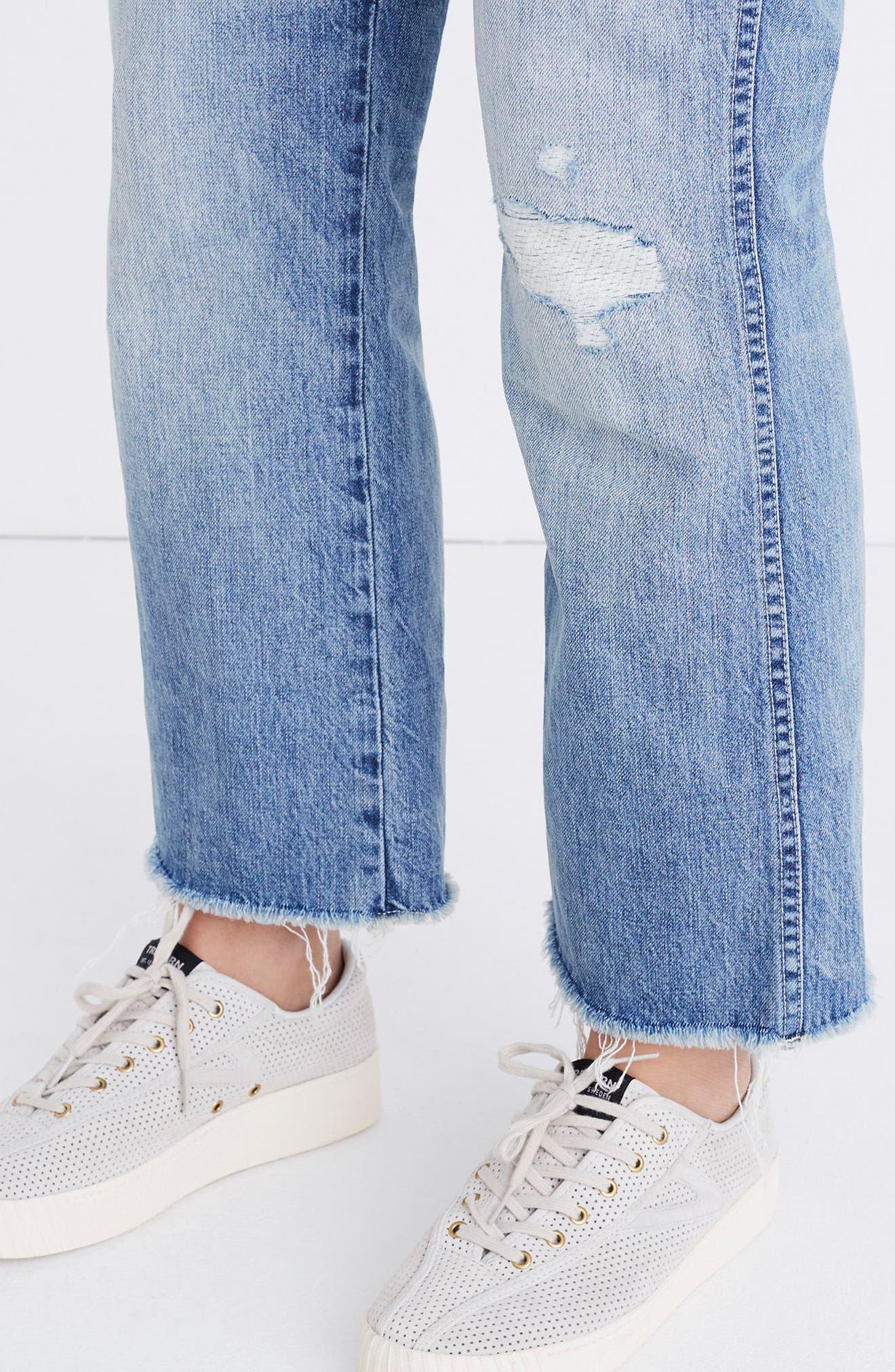 Rigid Crop Demi Boot Jeans,                             Alternate thumbnail 6, color,                             ROWES