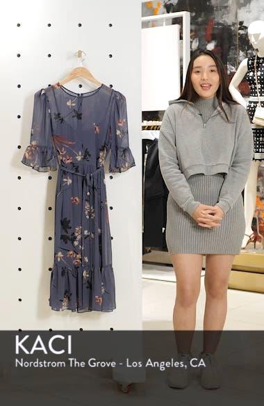 Floral Chiffon Midi Dress, sales video thumbnail
