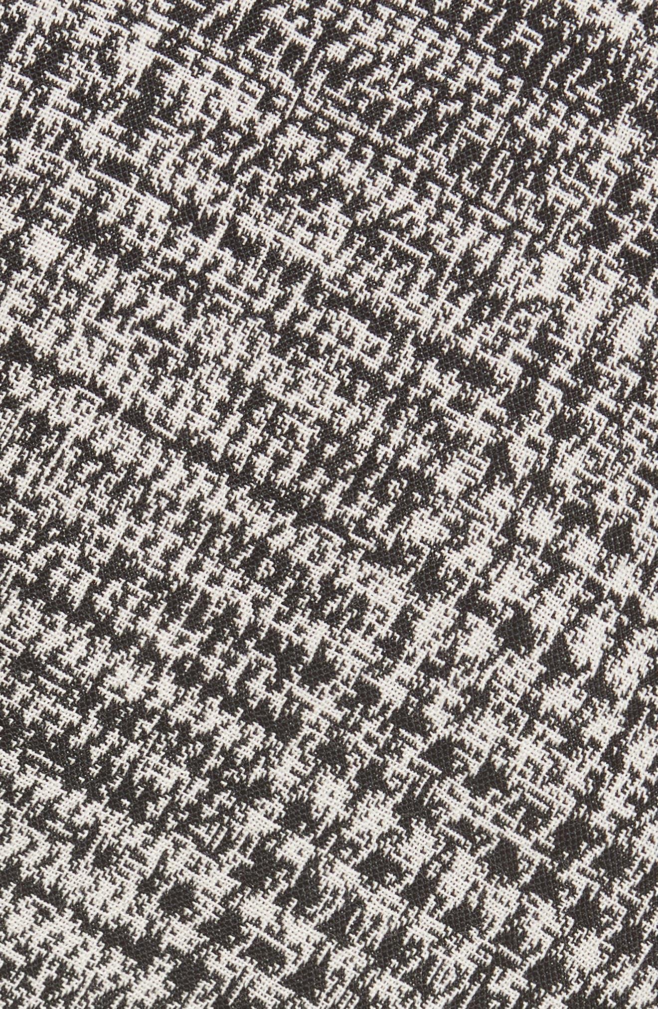 JASON WU COLLECTION,                             Jason Wu Check Wool Fit & Flare Dress,                             Alternate thumbnail 5, color,                             001
