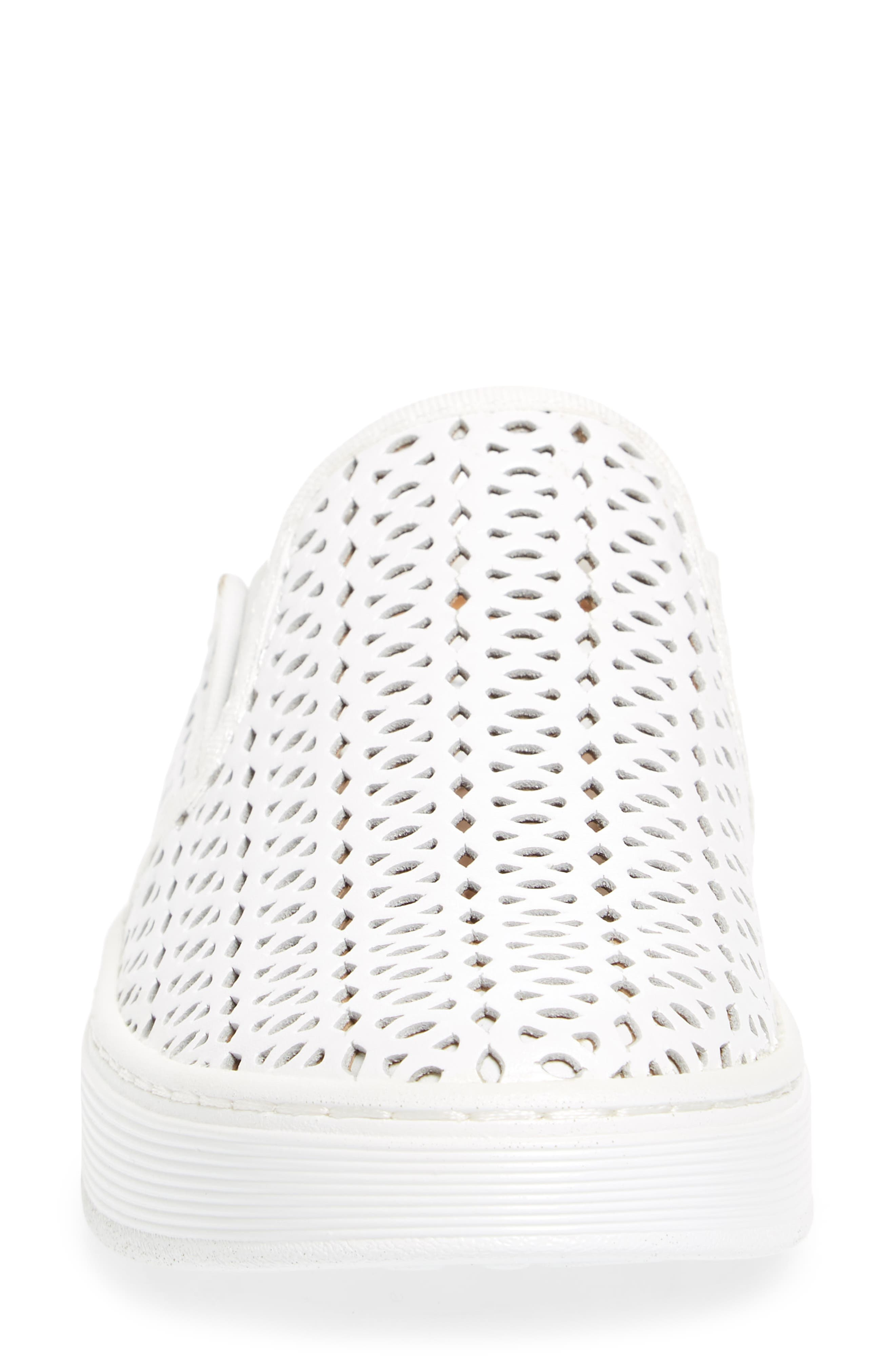 Somers II Sneaker,                             Alternate thumbnail 4, color,                             WHITE LEATHER