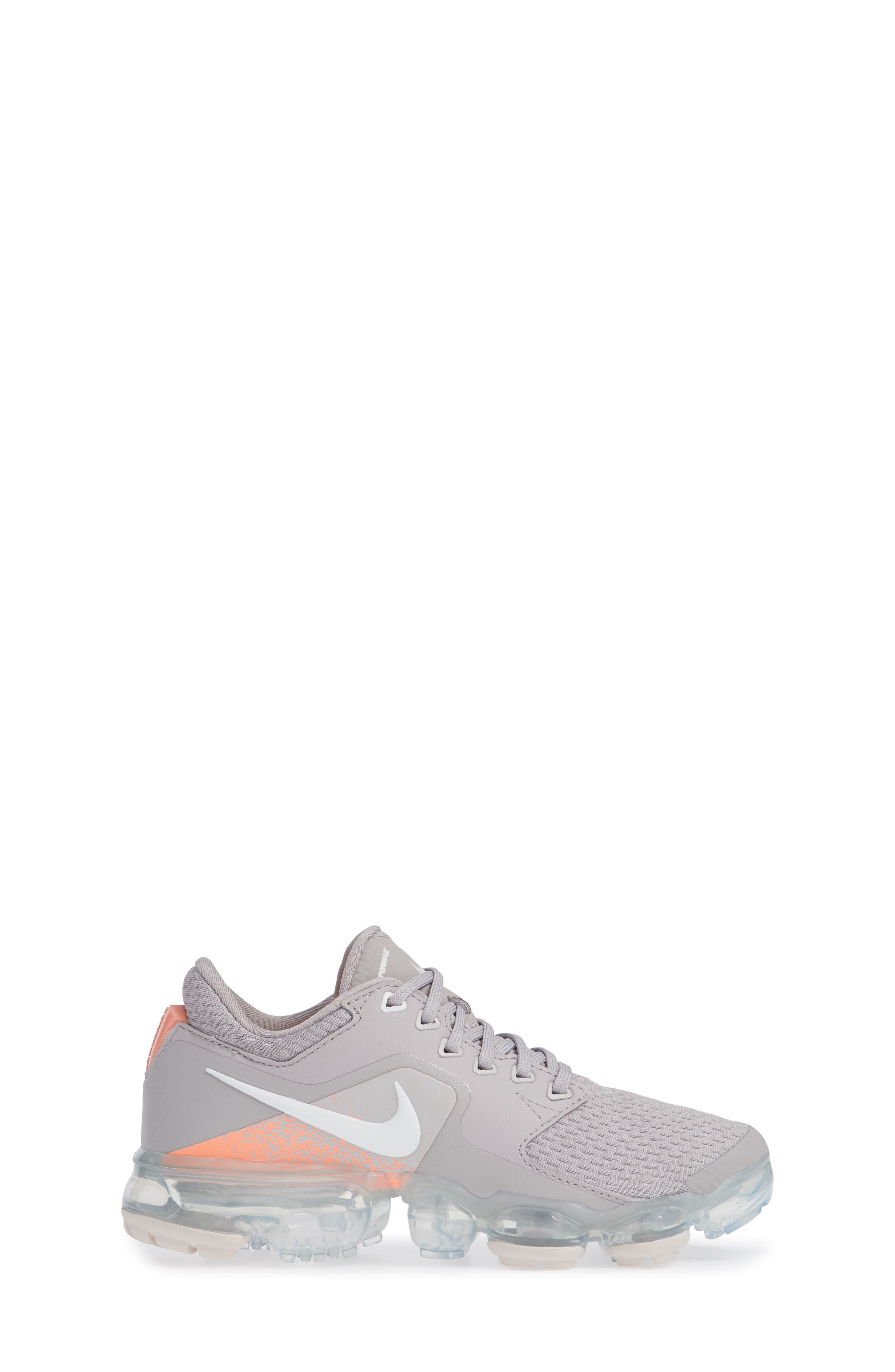 Air VaporMax GS Running Shoe,                             Alternate thumbnail 3, color,                             ATMOSPHERE GREY/ WHITE