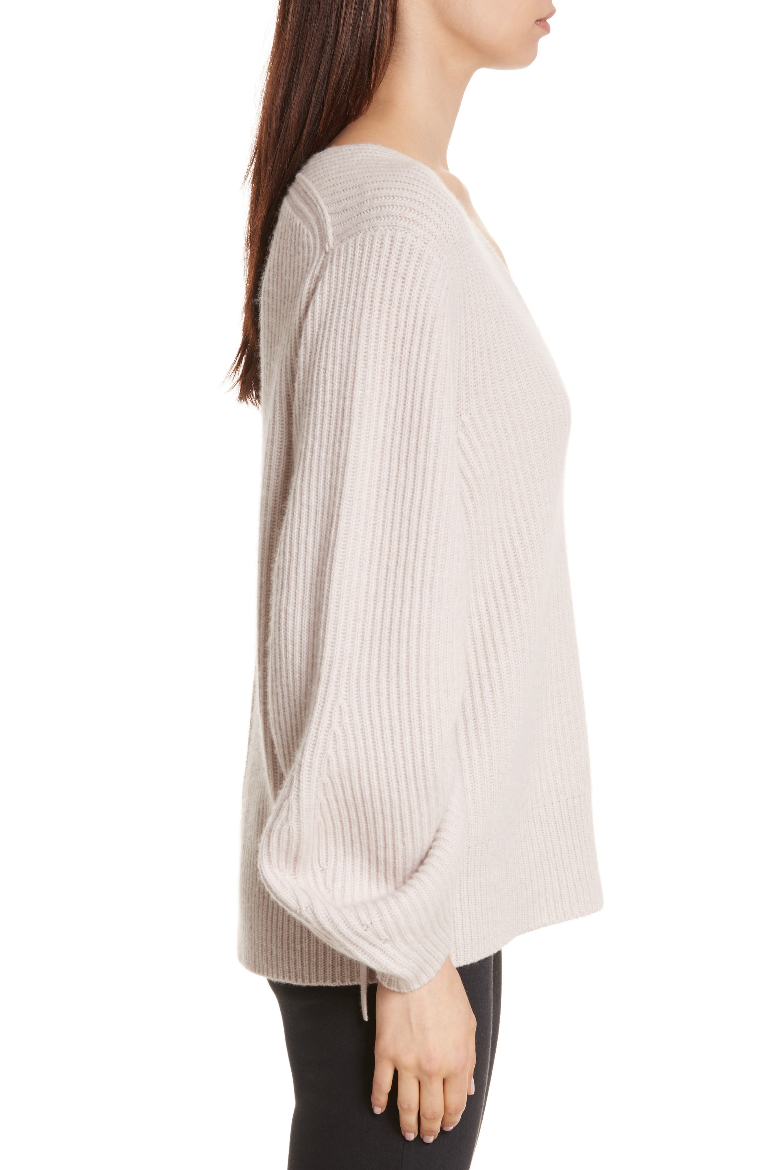 Anneka Wool & Cashmere Puff Sleeve Sweater,                             Alternate thumbnail 3, color,                             270