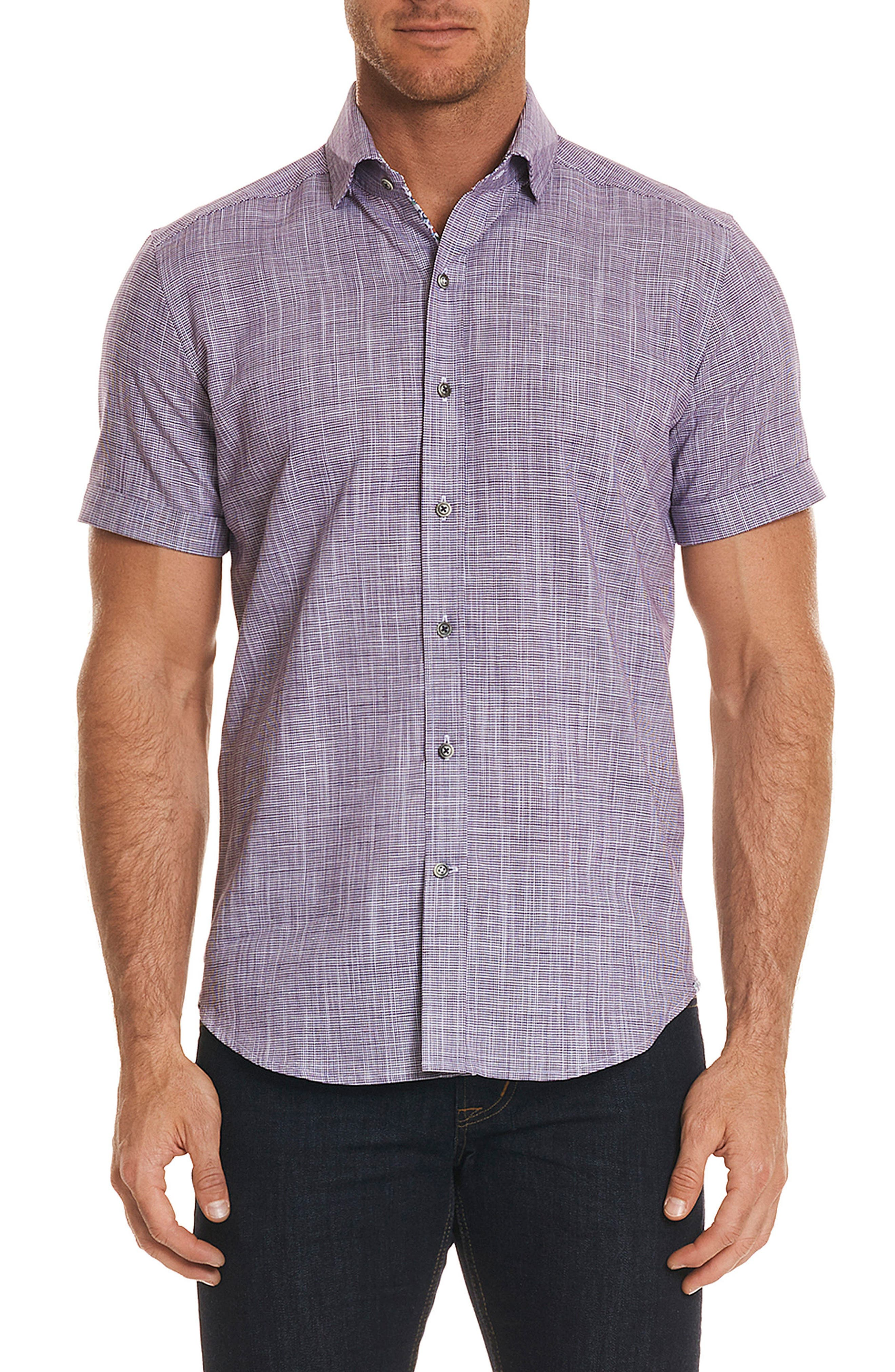Isia Tailored Fit Sport Shirt,                         Main,                         color, PURPLE