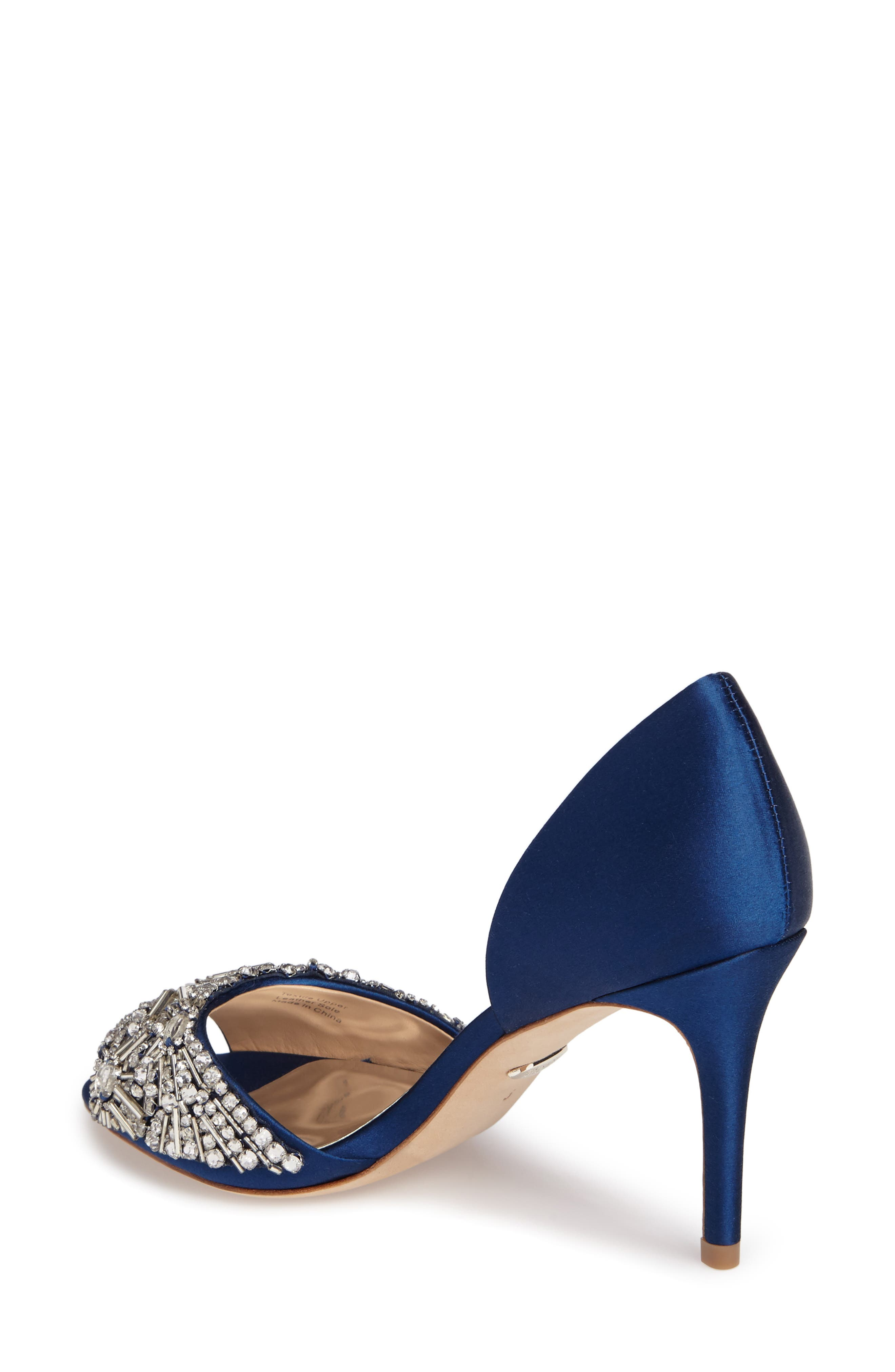 Maria Embellished d'Orsay Pump,                             Alternate thumbnail 9, color,