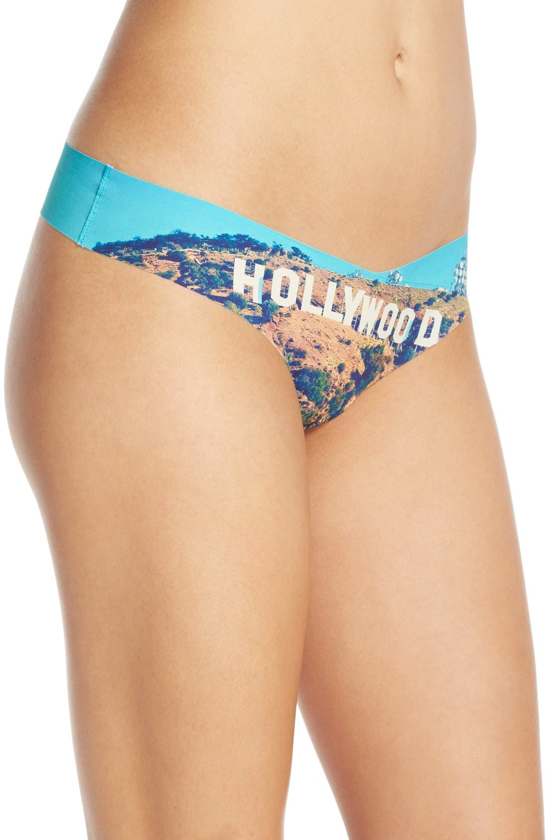 Print Microfiber Thong,                             Alternate thumbnail 153, color,