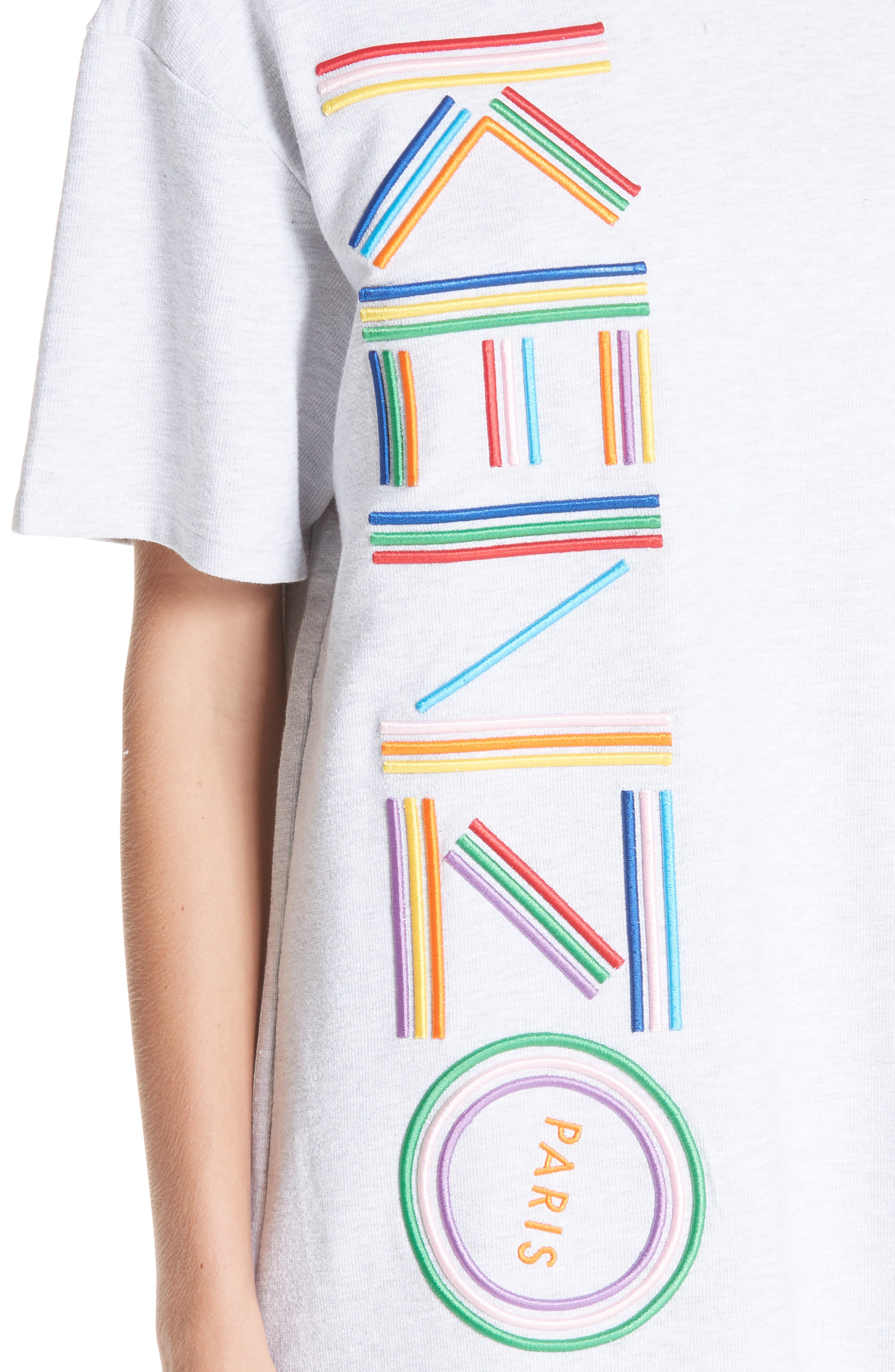 High Summer Logo T-Shirt Dress,                             Alternate thumbnail 4, color,                             PALE GREY