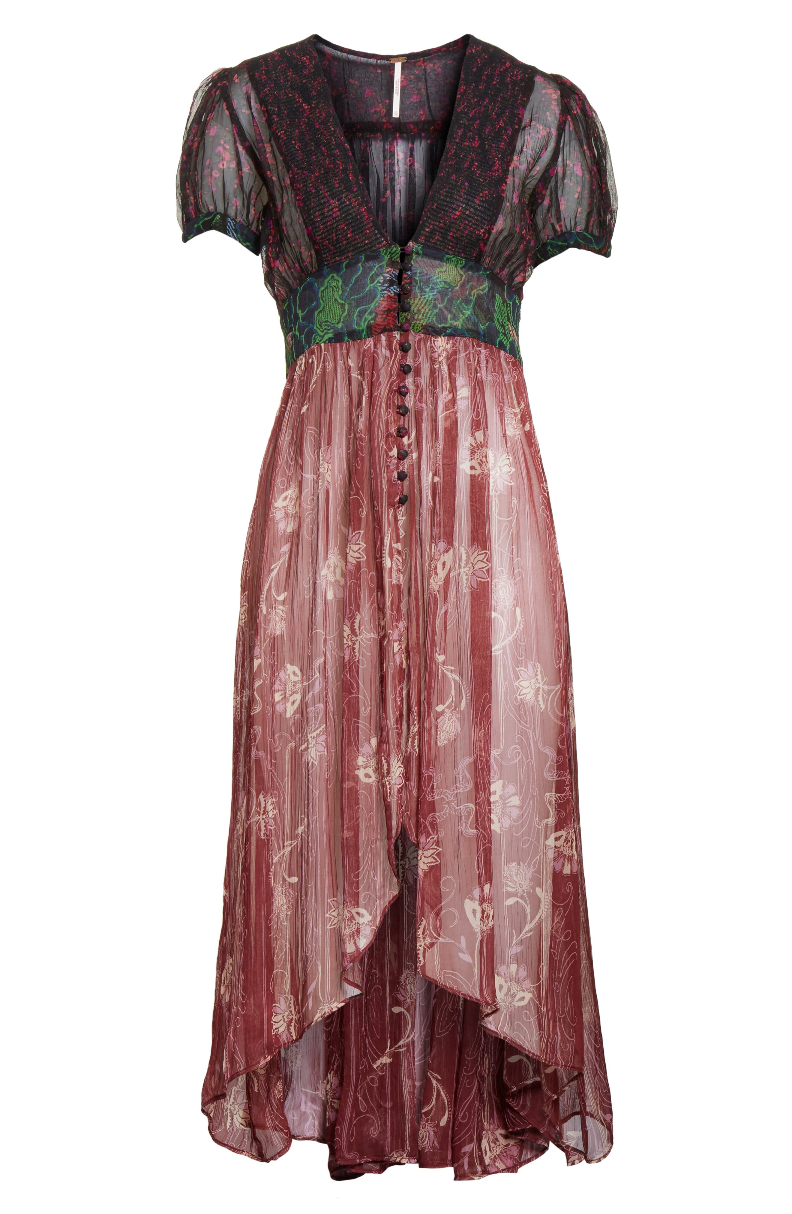 Daisy Fields Maxi Top,                             Alternate thumbnail 6, color,                             001