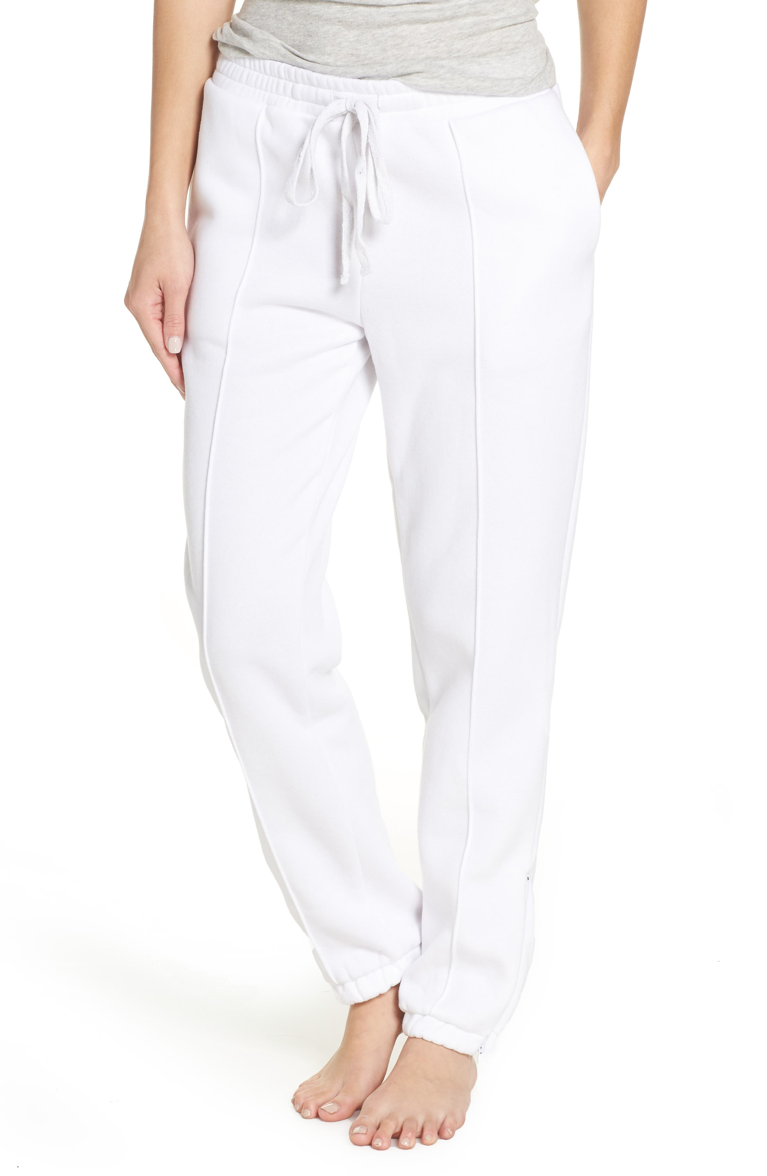 Hang Time Lounge Jogger Pants, Main, color, OPTIC WHITE