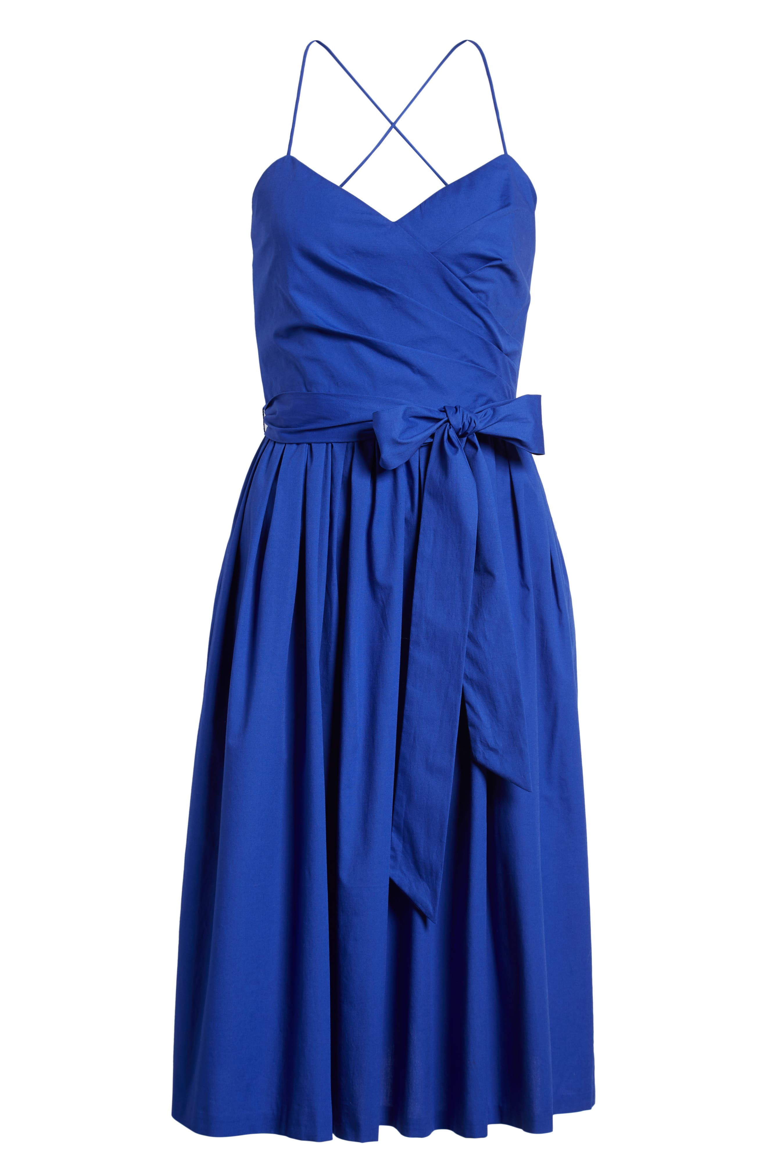 Strappy Fit & Flare Midi Dress,                             Alternate thumbnail 13, color,