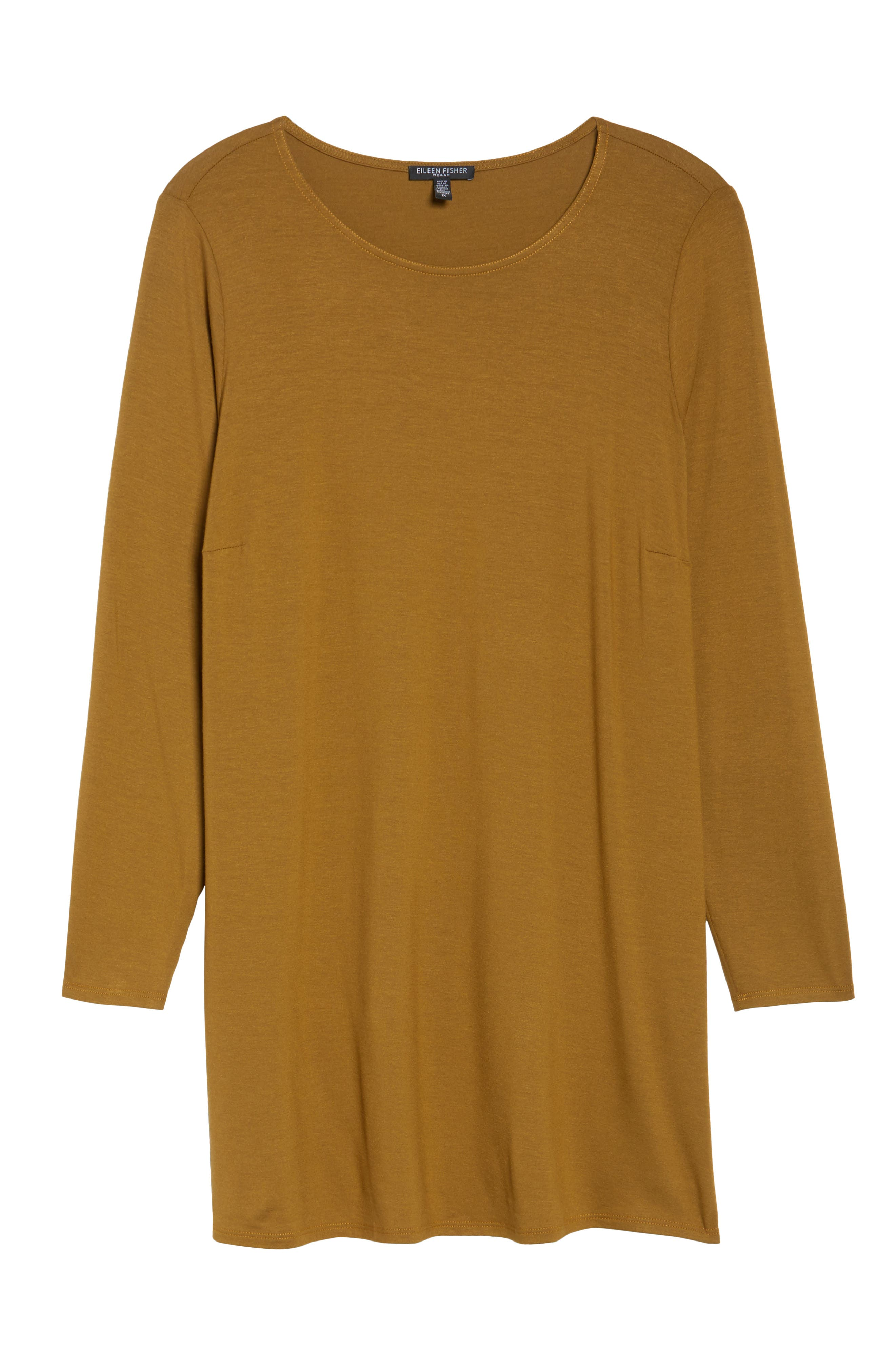 Round Neck Jersey Tunic,                             Alternate thumbnail 12, color,