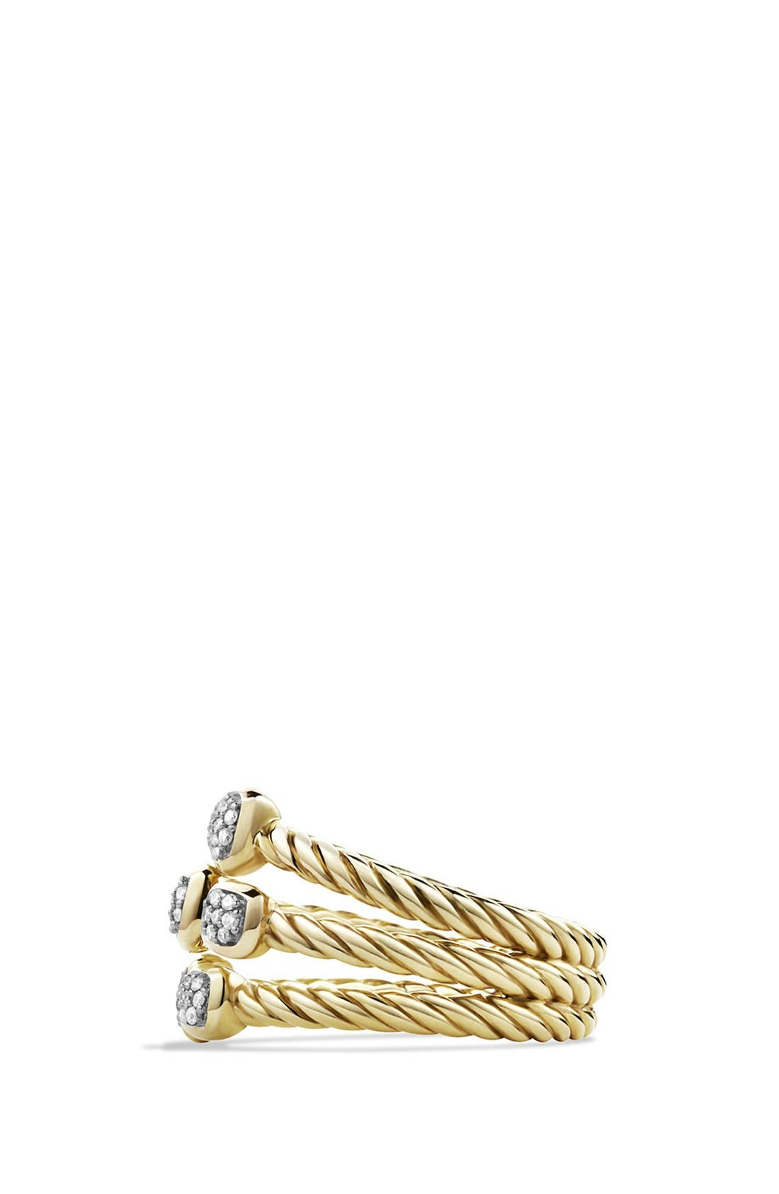 'Confetti' Ring with Diamonds in Gold,                             Alternate thumbnail 2, color,                             DIAMOND