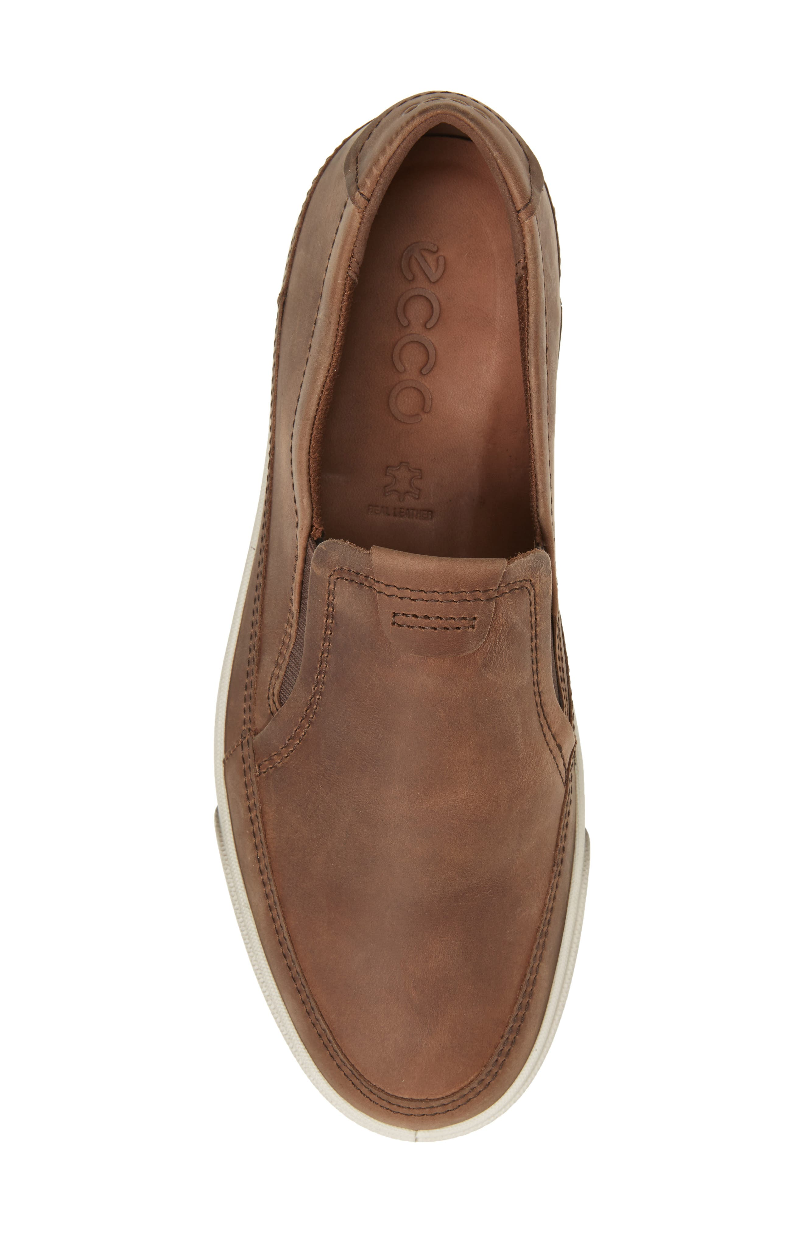 'Gary' Slip-On,                             Alternate thumbnail 5, color,                             COCOA BROWN LEATHER