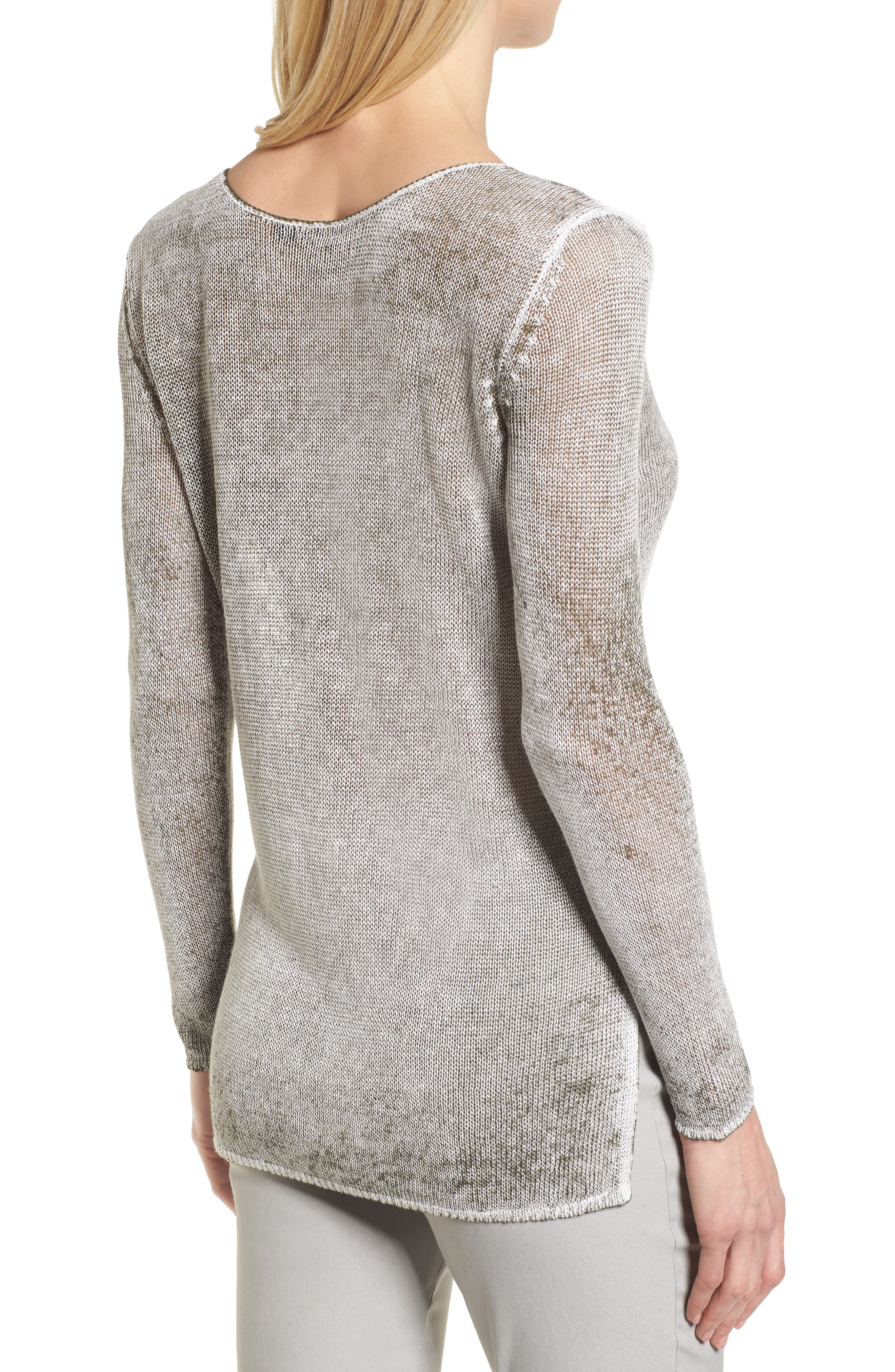 NIC + ZOE Poolside Linen Blend Sweater,                             Alternate thumbnail 6, color,