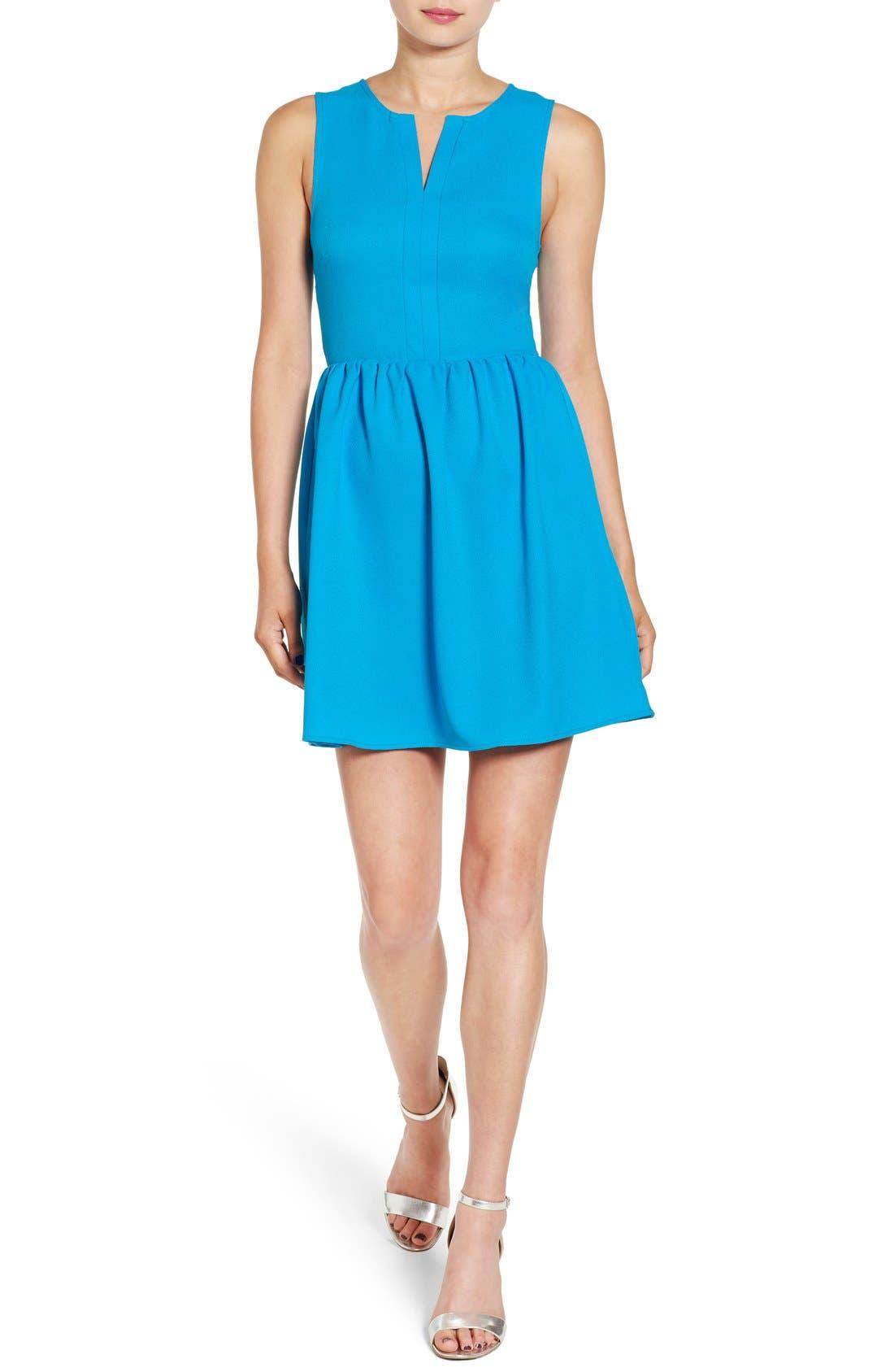'Rowan' V-Neck Skater Dress,                             Main thumbnail 7, color,