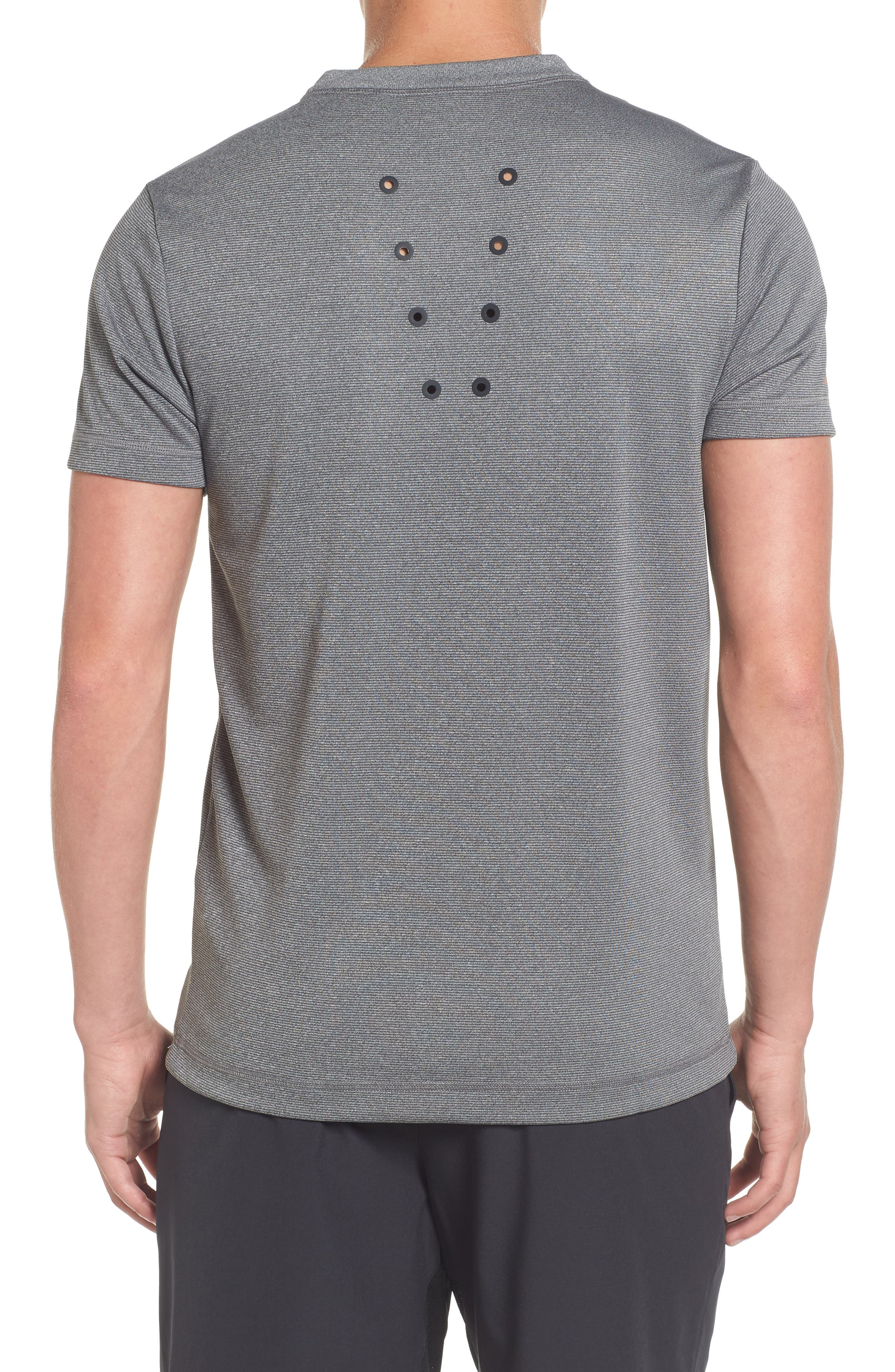 Pinstripe Grommet T-Shirt,                             Alternate thumbnail 2, color,                             020