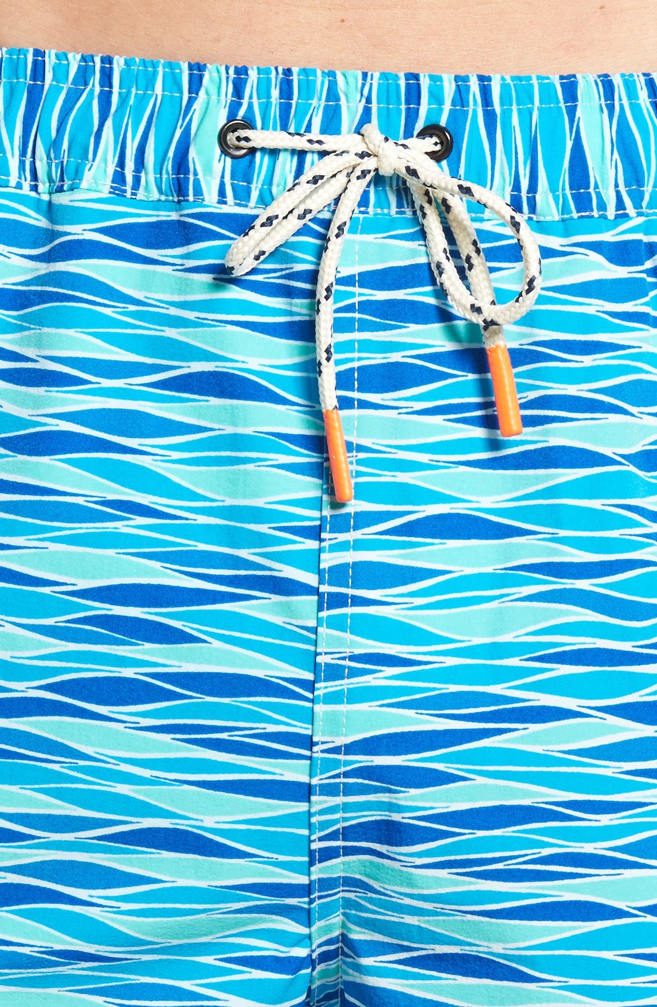 Printer Swim Trunks,                             Alternate thumbnail 4, color,                             427