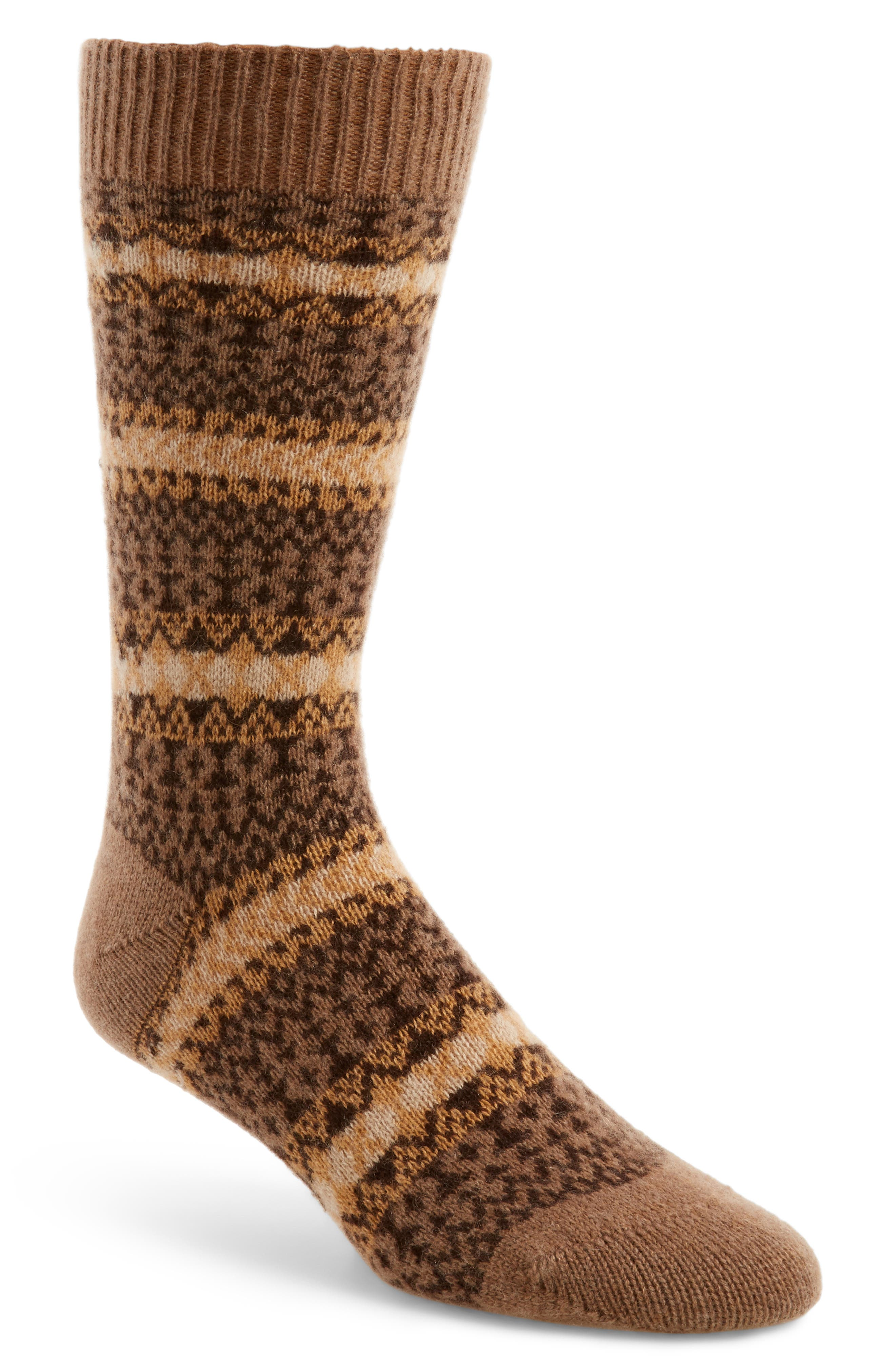Fair Isle Cashmere Socks,                             Main thumbnail 1, color,                             261