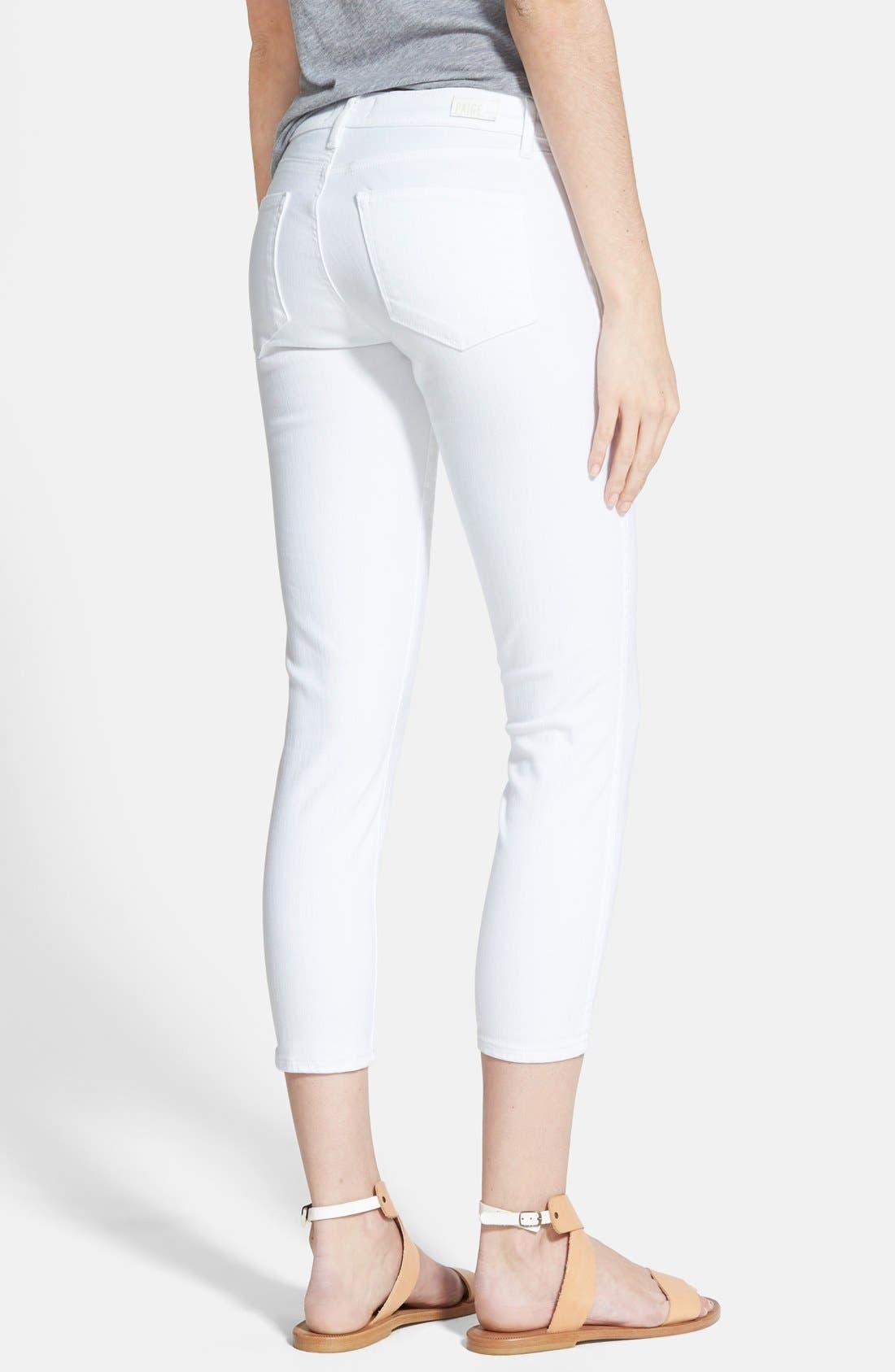 'Verdugo' Crop Skinny Jeans,                             Alternate thumbnail 3, color,                             ULTRA WHITE