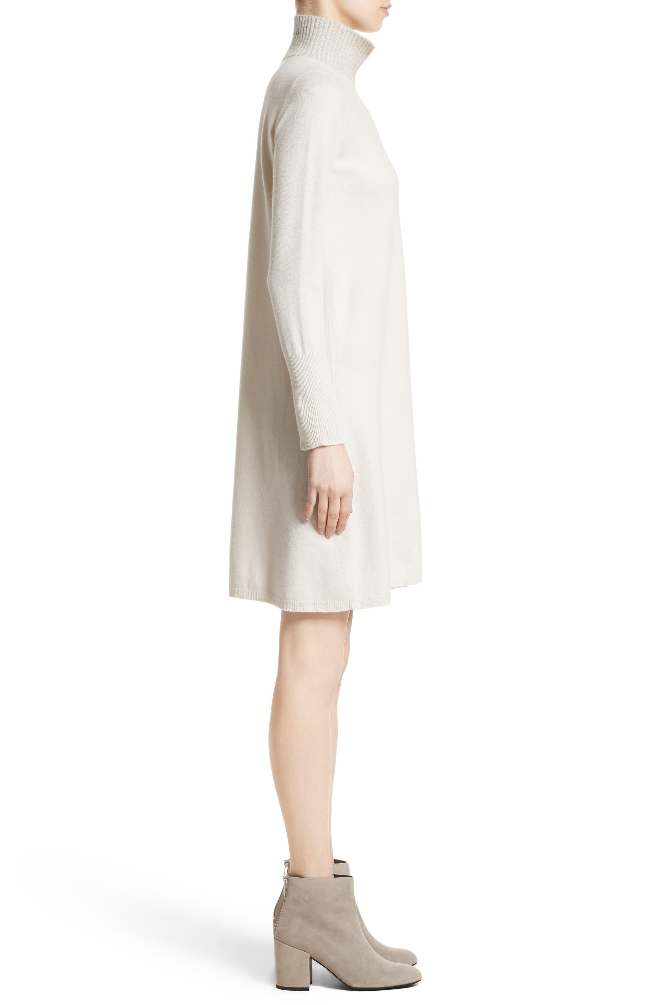 Wool, Silk & Cashmere Knit Dress,                             Alternate thumbnail 3, color,                             101
