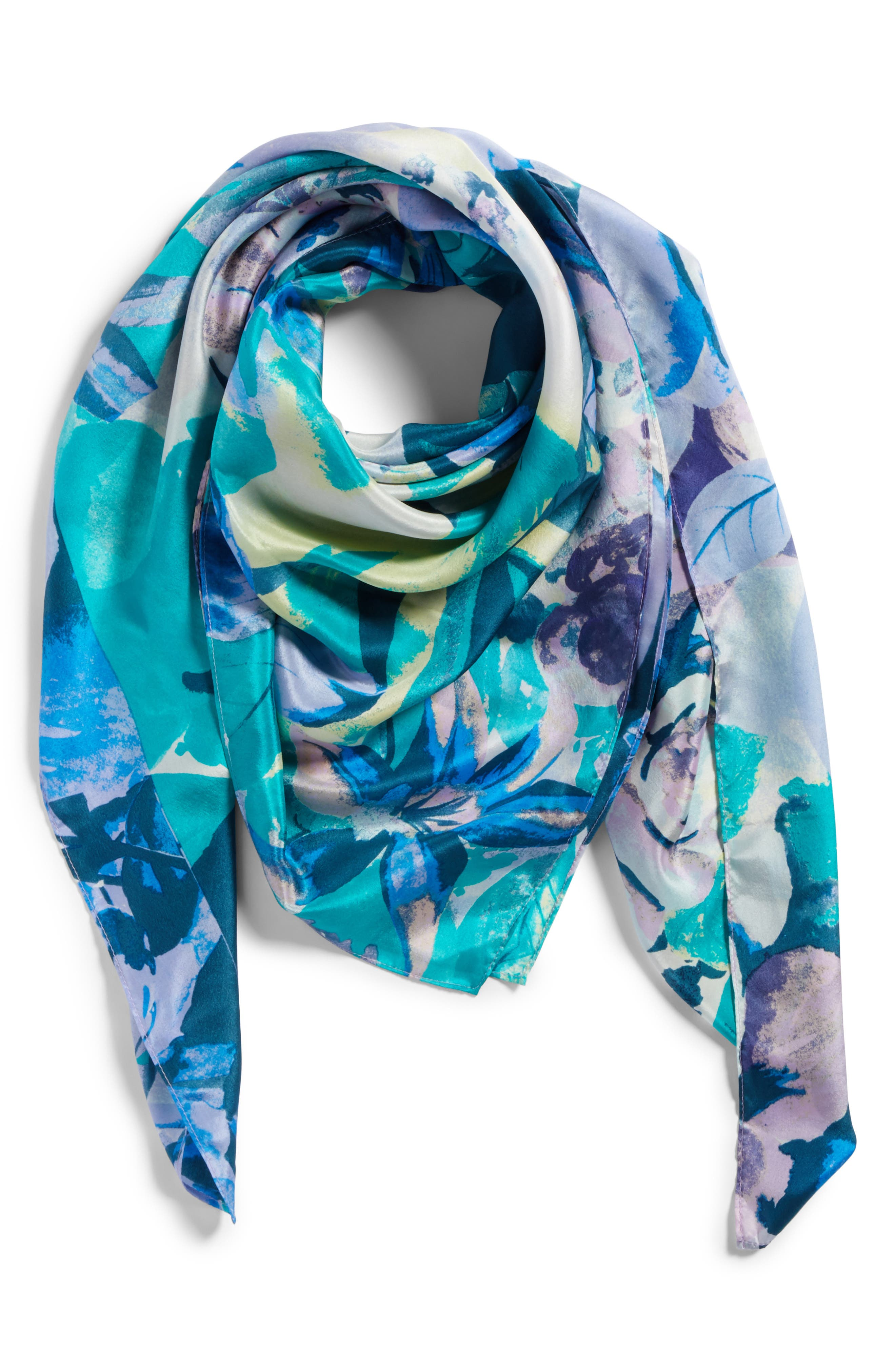 Embroidered Wool Scarf,                             Alternate thumbnail 2, color,                             361
