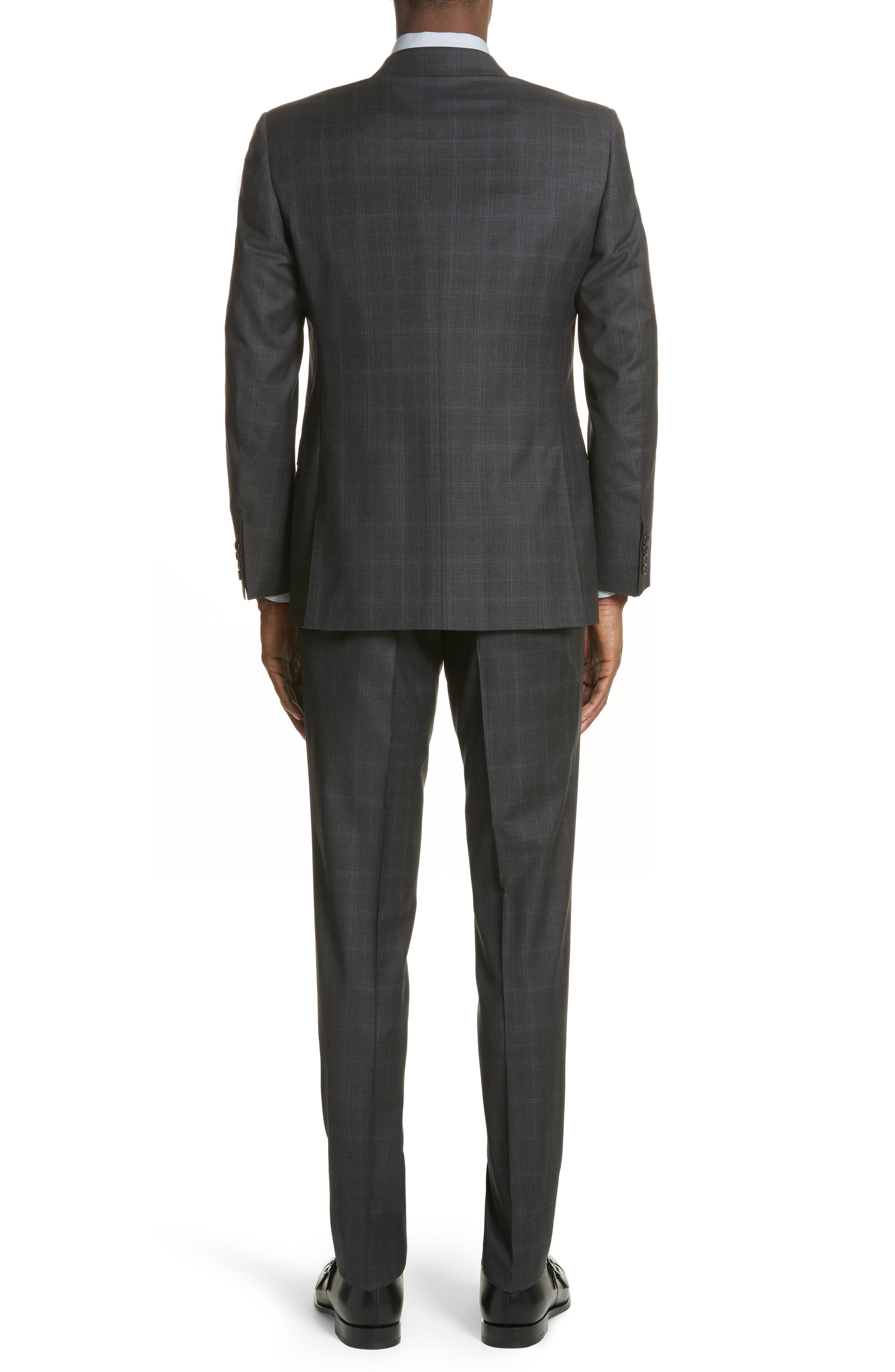 Classic Fit Plaid Wool Suit,                             Alternate thumbnail 2, color,                             023