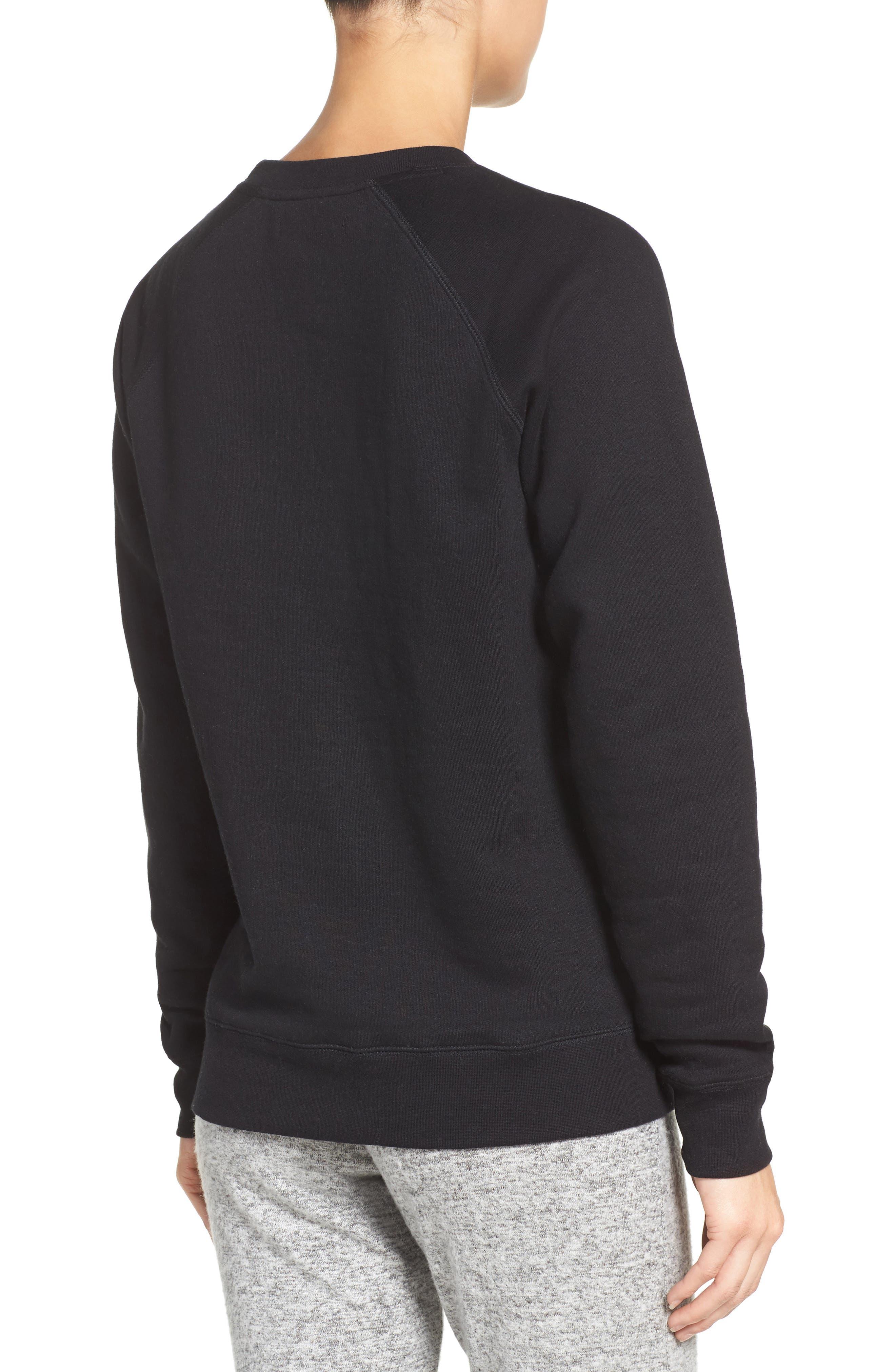 Brunette Crewneck Sweatshirt,                             Alternate thumbnail 3, color,                             001