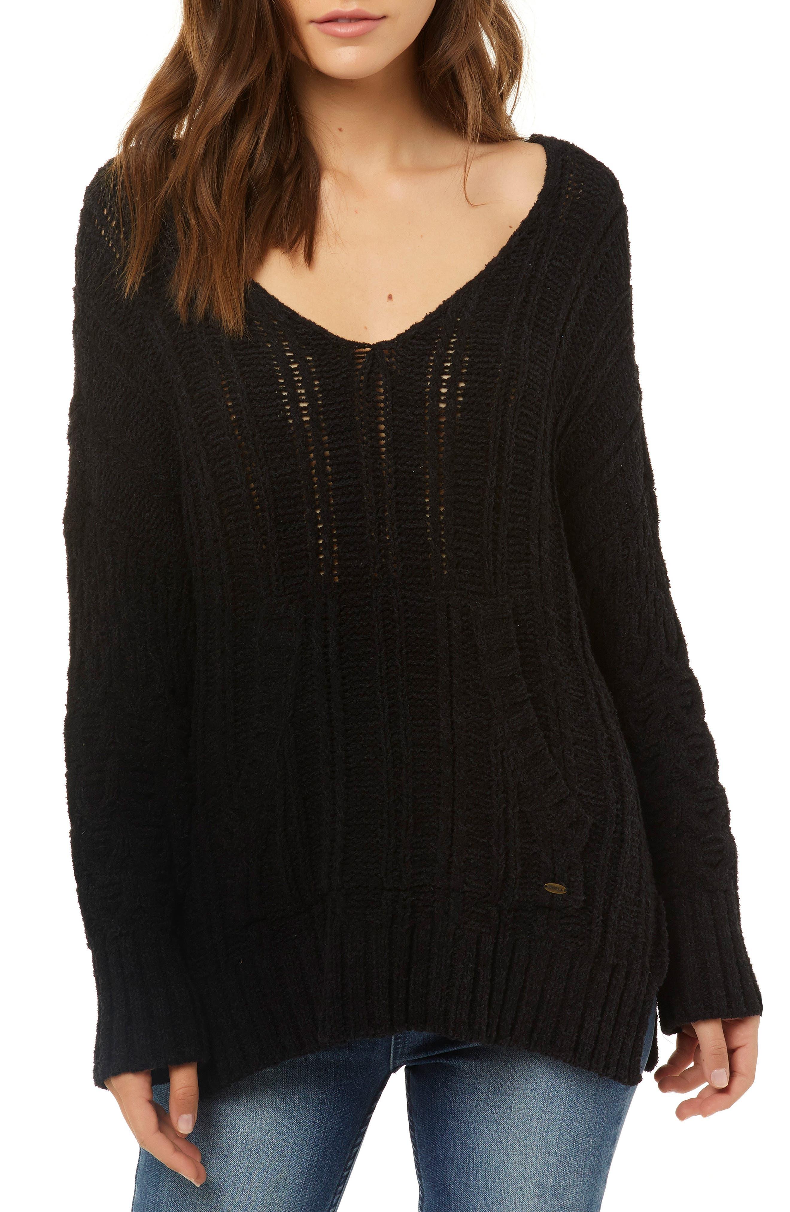 Knit Pullover,                             Main thumbnail 1, color,                             001