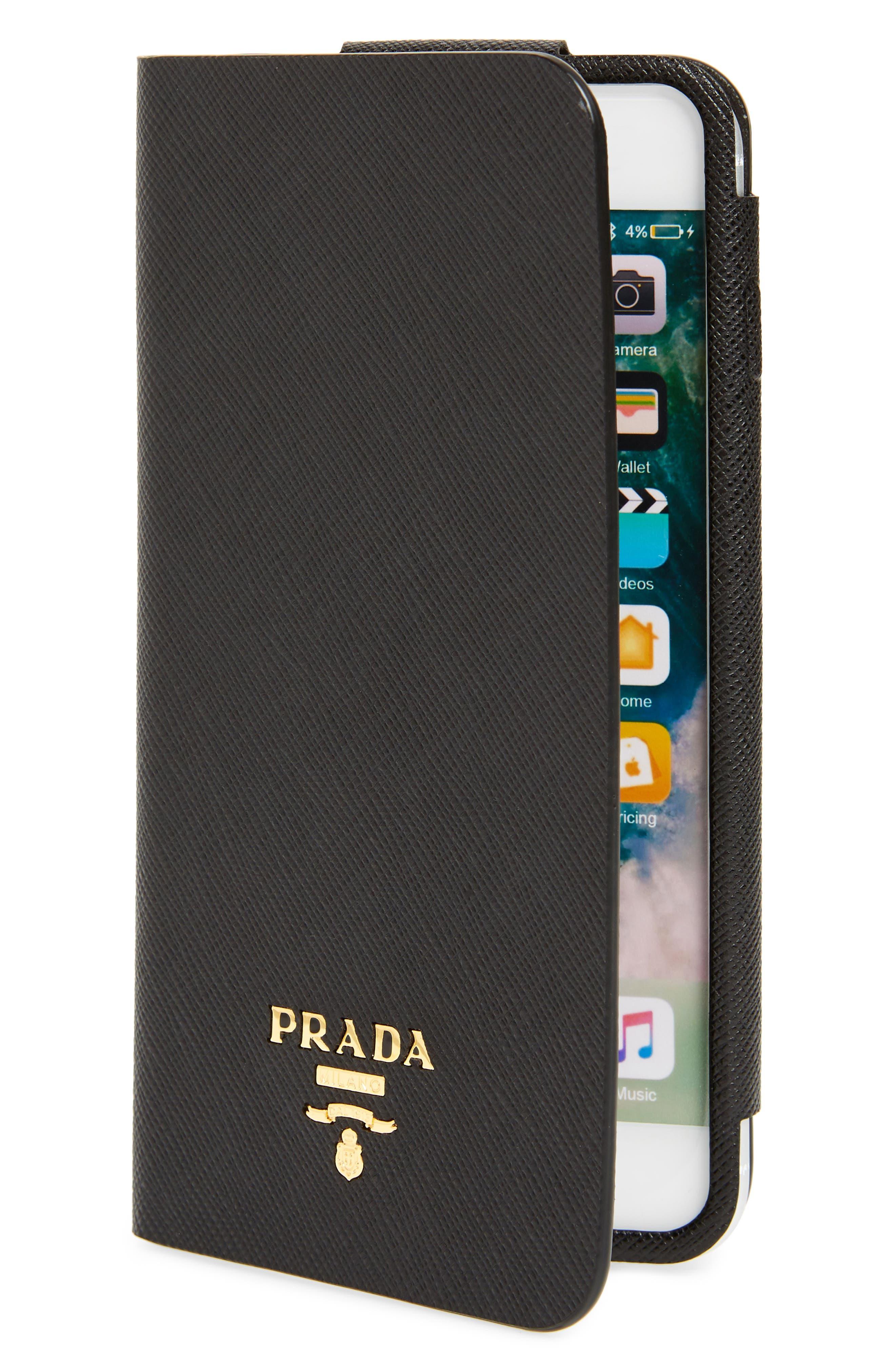 Saffiano Metal Oro Book iPhone 7 Plus Wallet,                         Main,                         color, 001