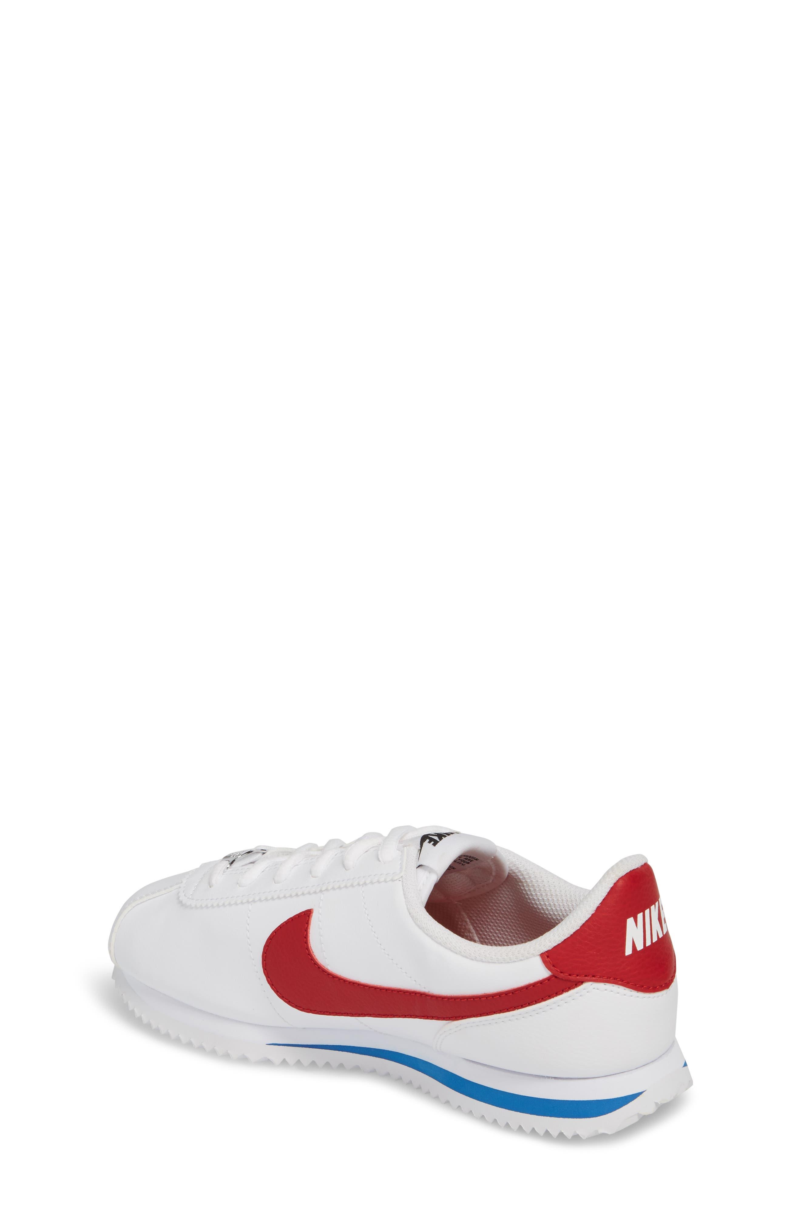 Cortez Basic SL Sneaker,                             Alternate thumbnail 2, color,                             WHITE/ VARSITY RED-ROYAL-BLACK