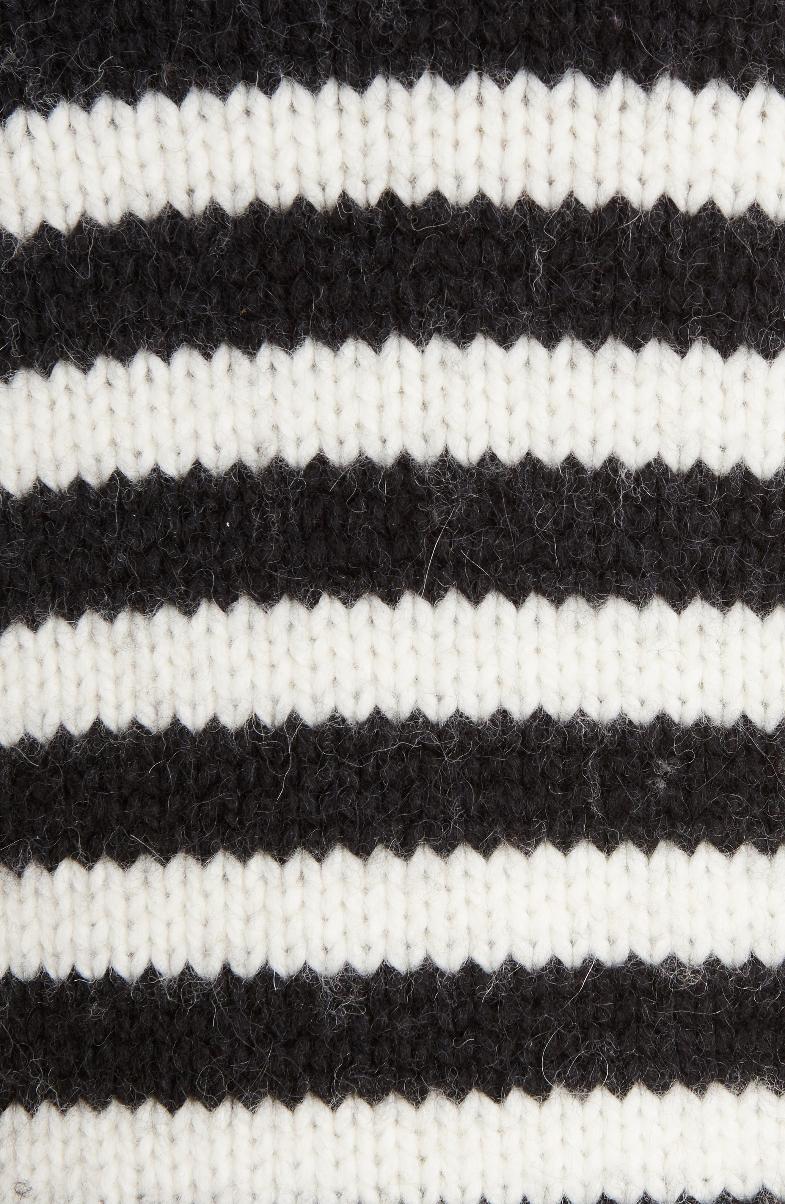 Stripe Wool & Alpaca Sweater,                             Alternate thumbnail 5, color,                             419