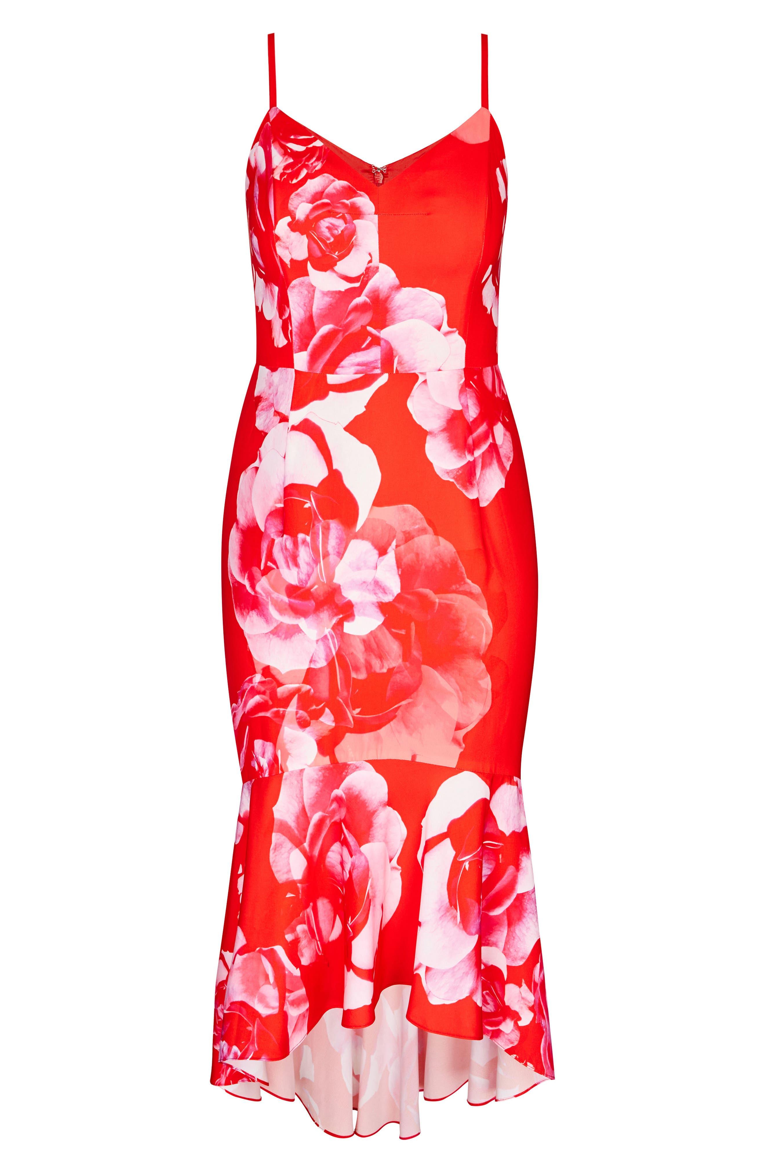 Tango Floral Dress,                             Alternate thumbnail 3, color,                             614