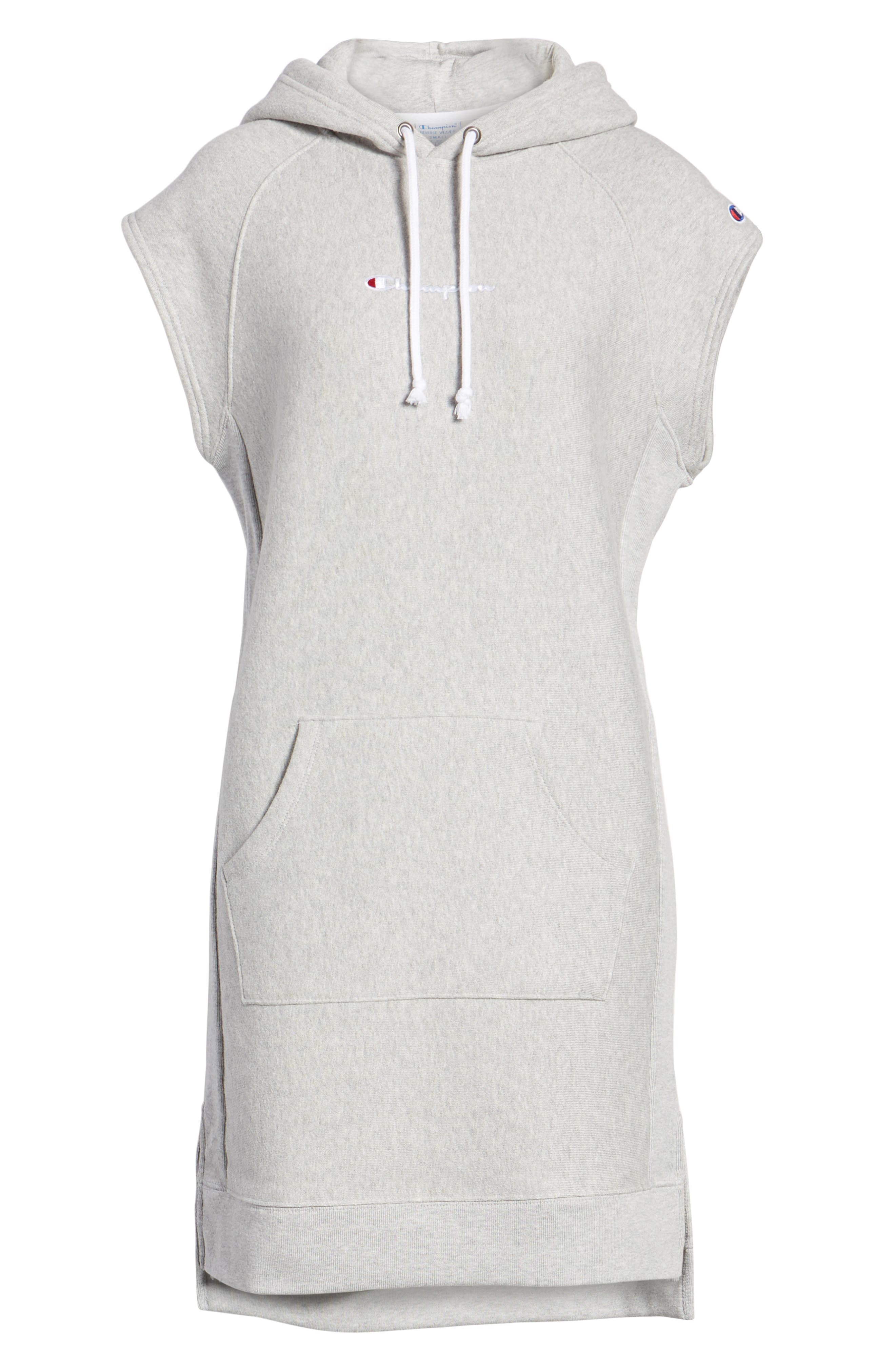 Hoodie Dress,                             Alternate thumbnail 6, color,                             021