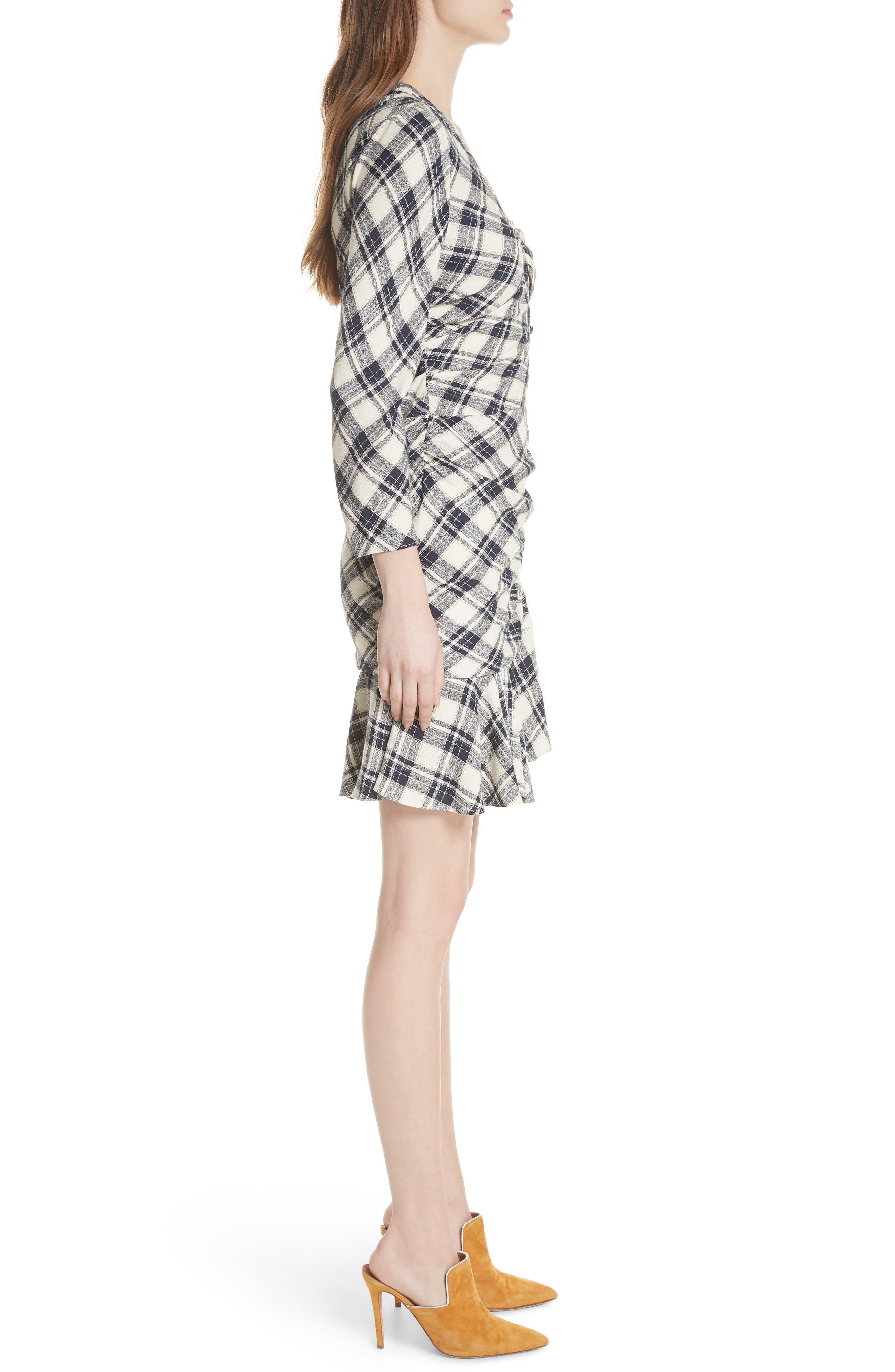 Rowe Asymmetrical Button Dress,                             Alternate thumbnail 3, color,                             417