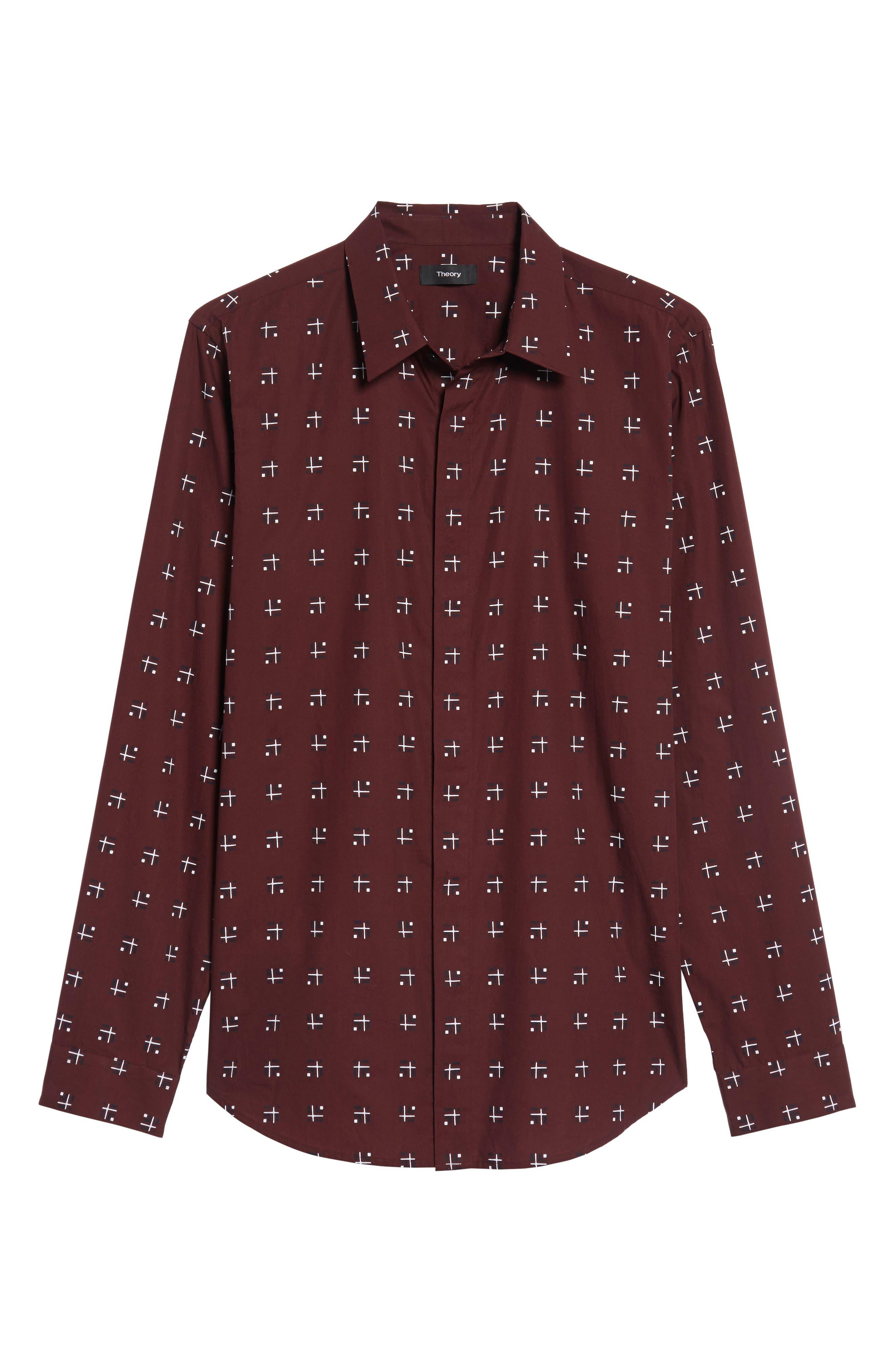 Levy Cross Box Regular Fit Sport Shirt,                             Alternate thumbnail 12, color,