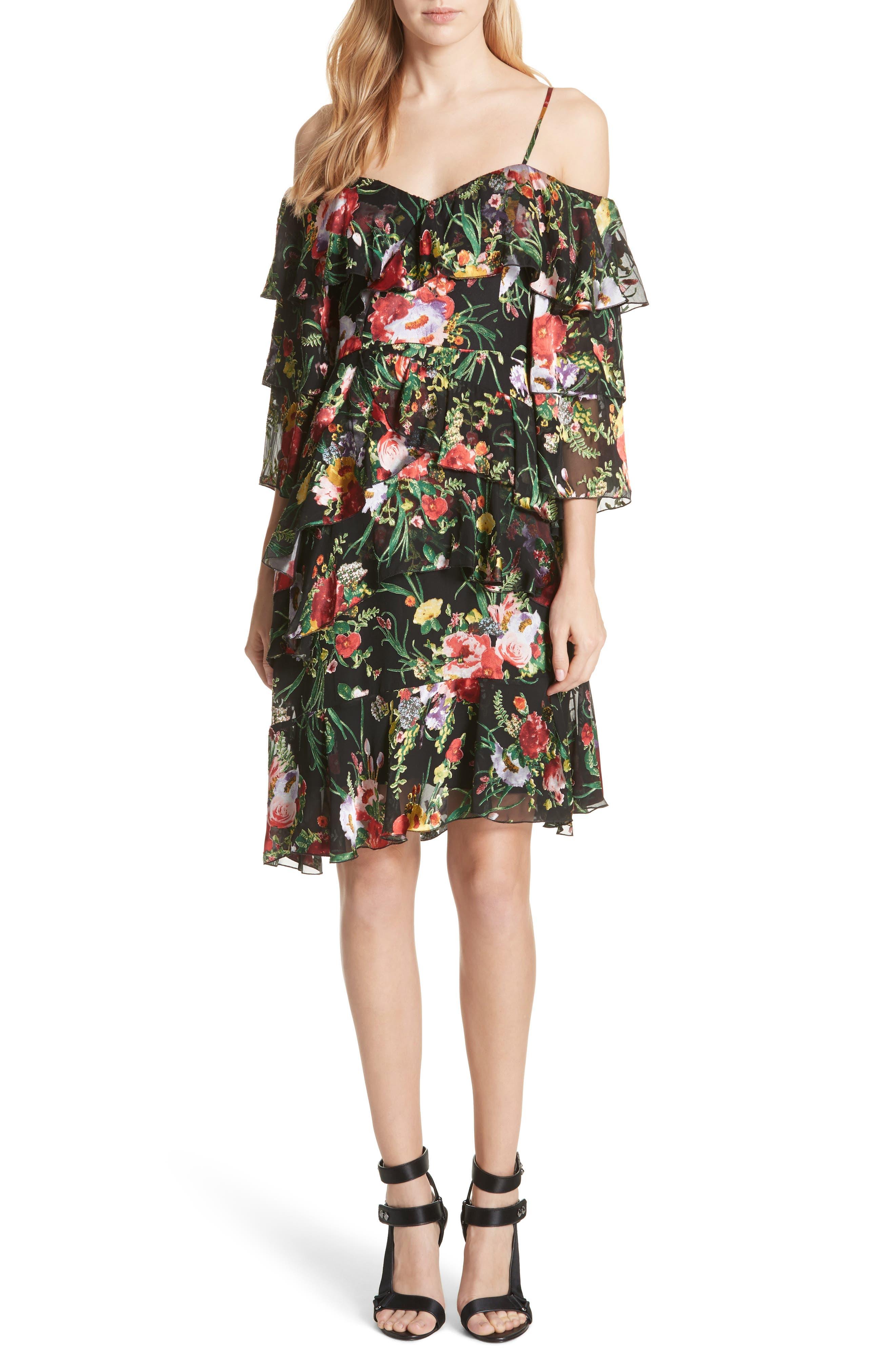 Florentina Off the Shoulder Dress,                             Main thumbnail 1, color,                             001