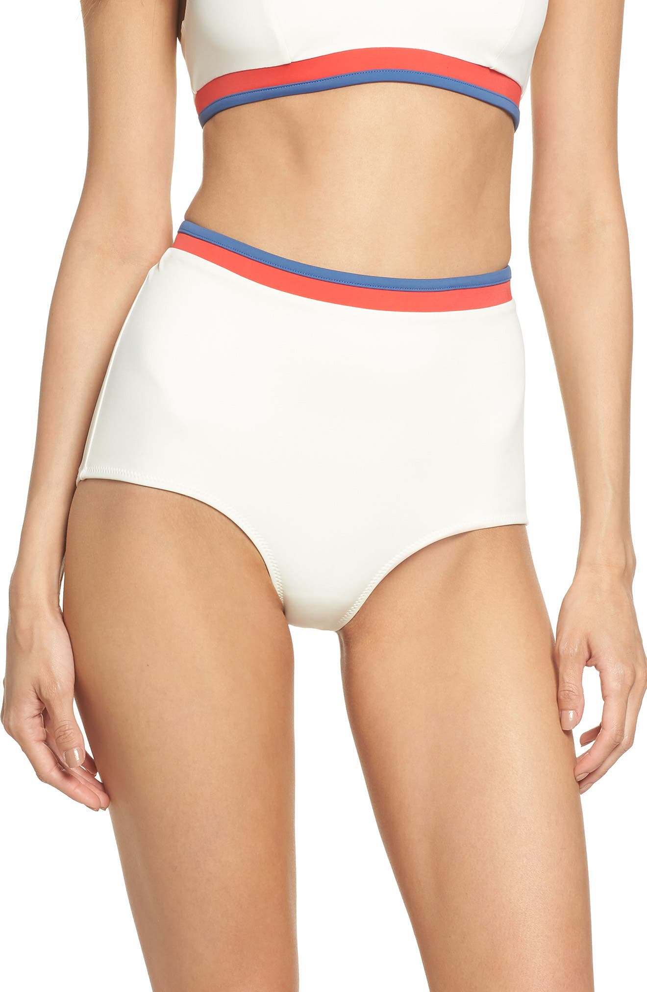 Solid & Stripe Katie High Waist Bikini Bottoms,                         Main,                         color, 900