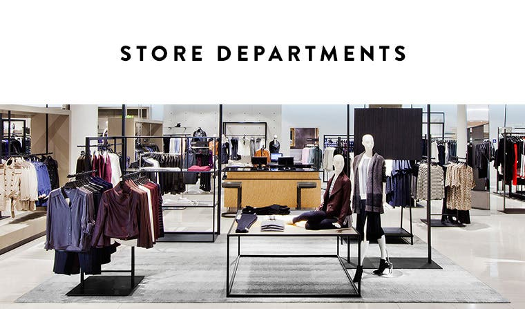 Nordstrom Domain Northside: Store Departments