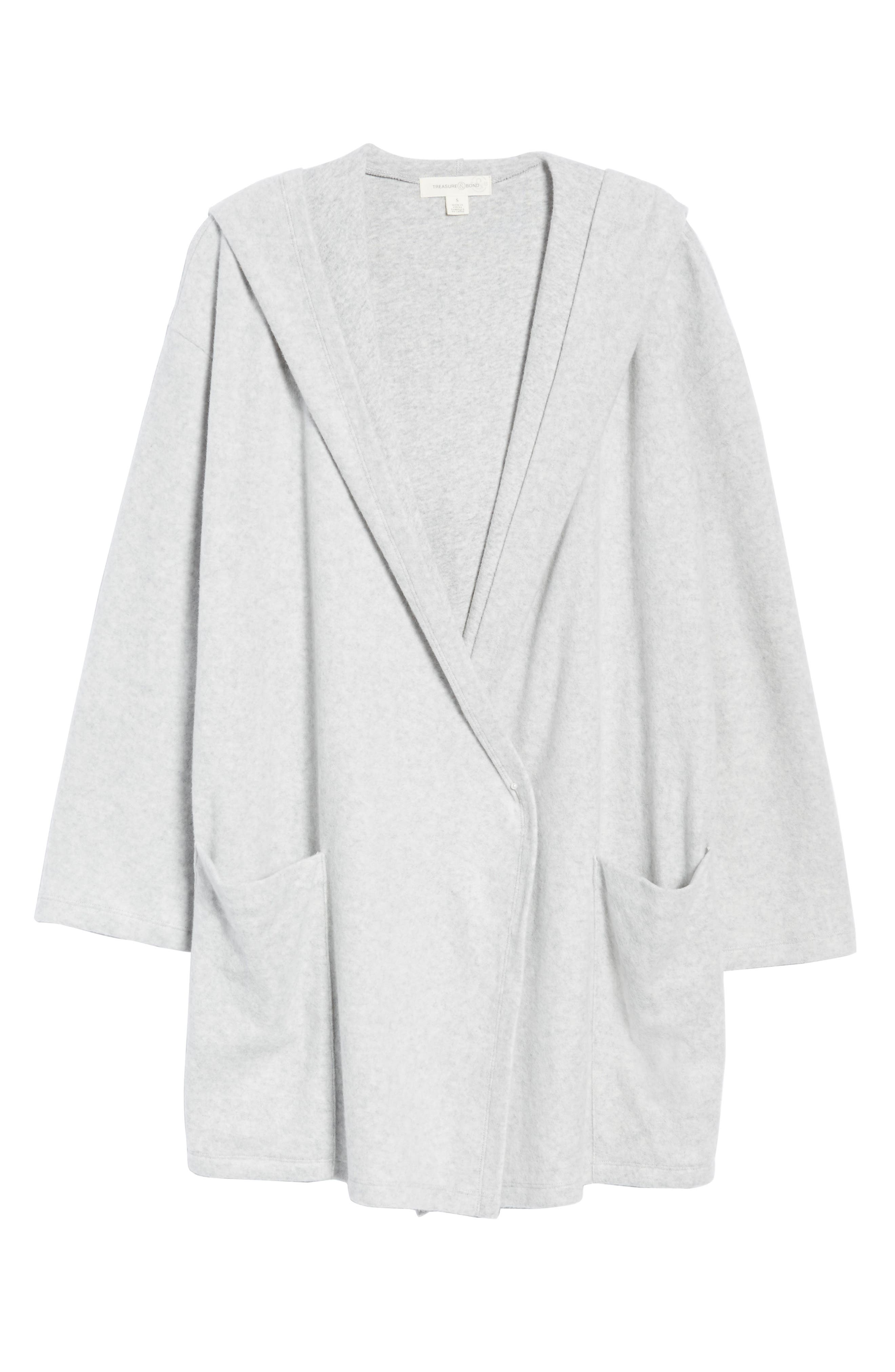 Hooded Open Front Cardigan,                             Alternate thumbnail 6, color,
