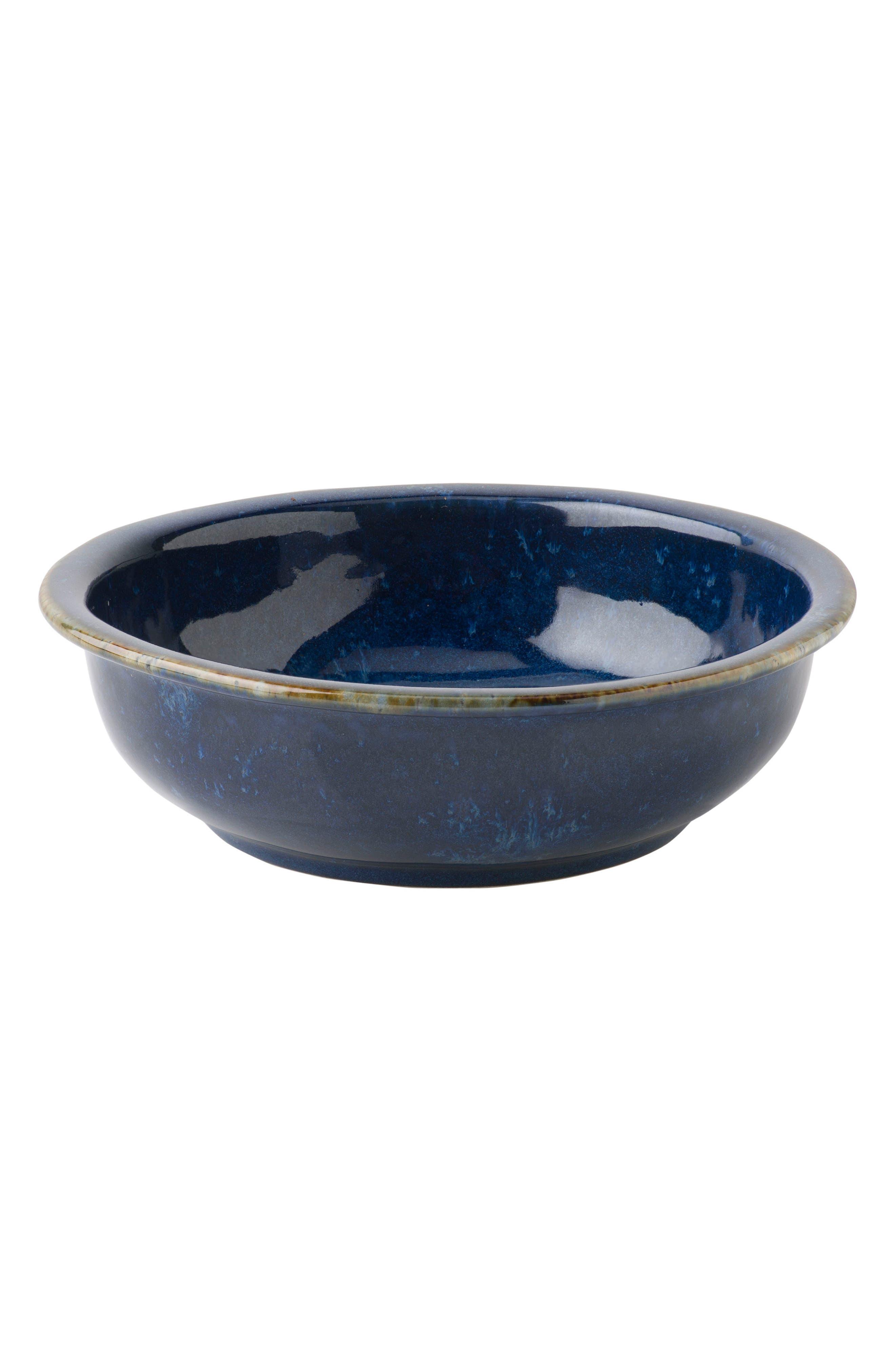 Puro Cobalt Ceramic Coupe Bowl,                             Main thumbnail 1, color,                             DAPPLED COBALT