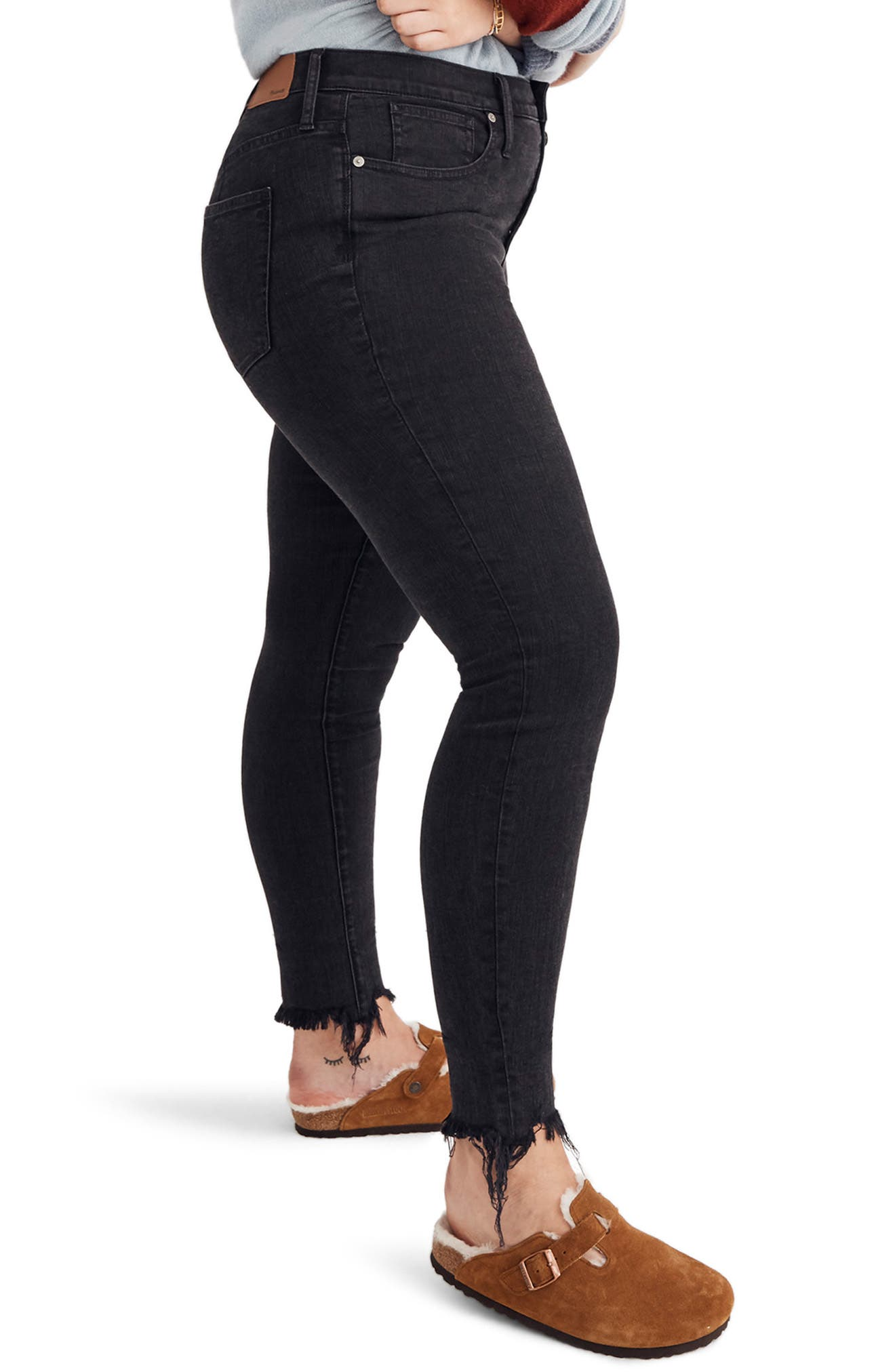 9-Inch Button High Waist Ankle Skinny Jeans,                             Alternate thumbnail 9, color,                             BERKELEY WASH
