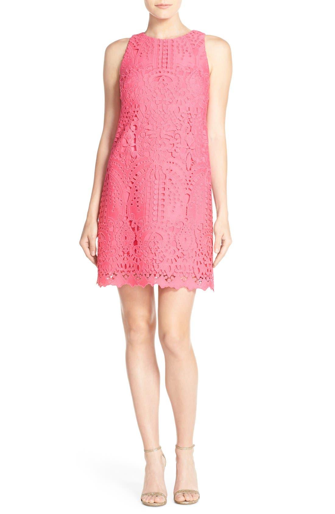 Lace Shift Dress,                             Alternate thumbnail 6, color,                             660