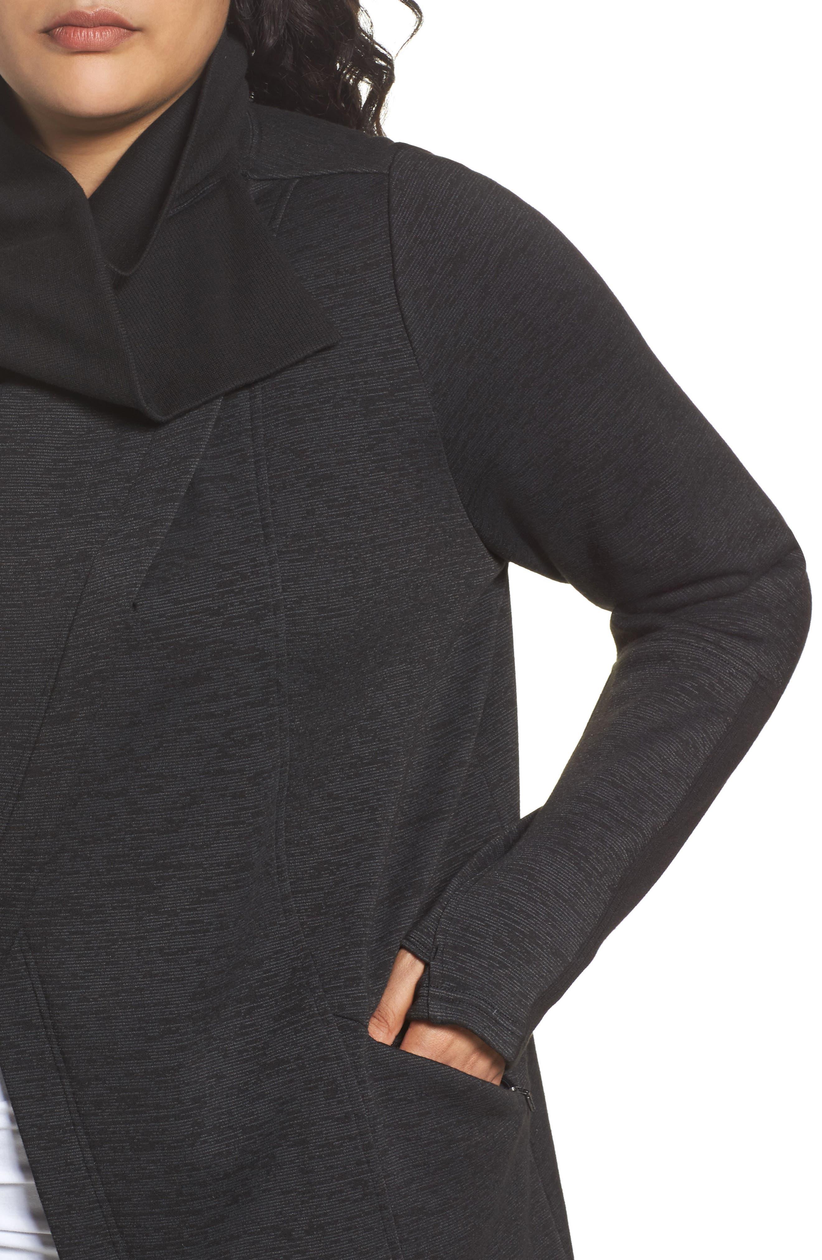 Elevate Me Wrap Sweatshirt,                             Alternate thumbnail 4, color,                             001