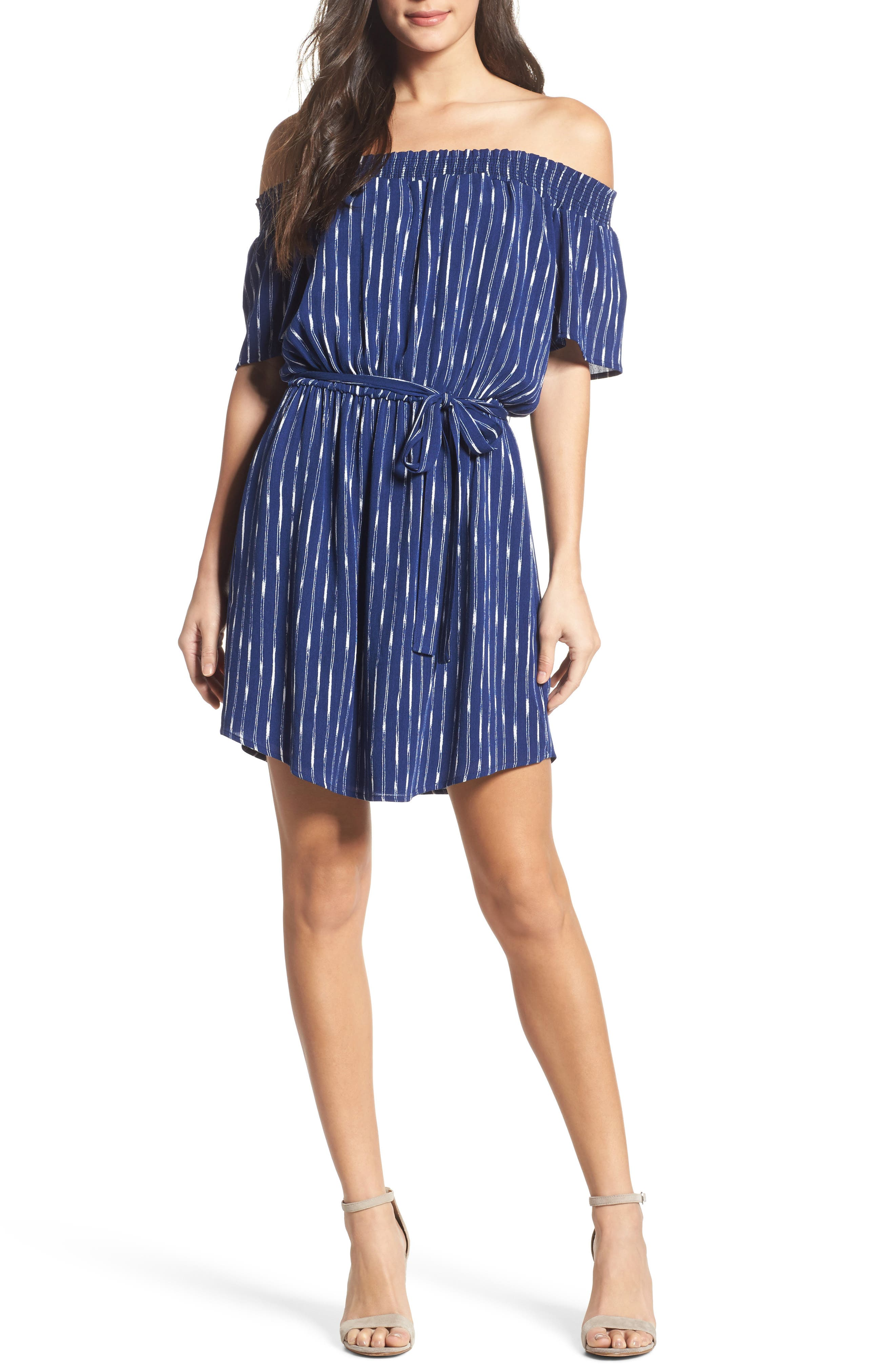 Off the Shoulder Dress,                         Main,                         color, 436
