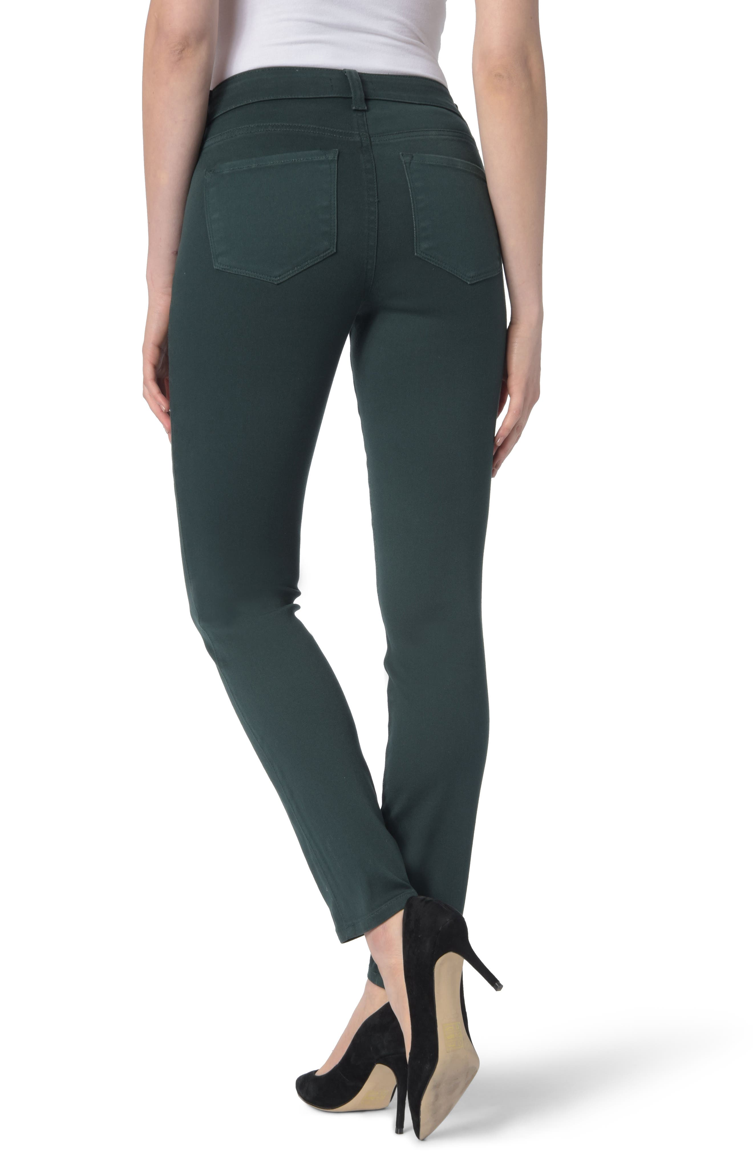 Ami High Waist Colored Stretch Skinny Jeans,                             Alternate thumbnail 2, color,                             VERIDIAN